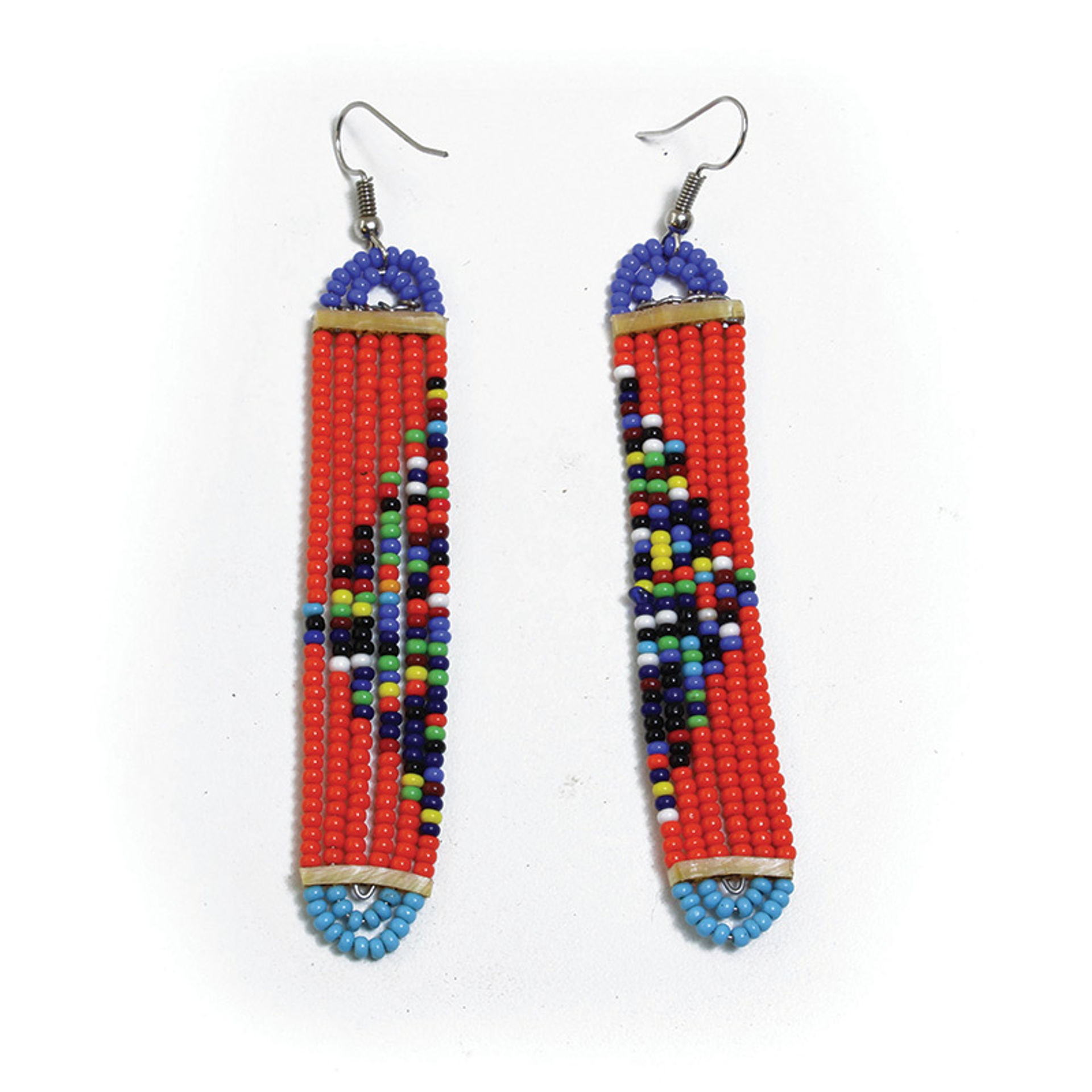 Picture of Maasai Long Slim Earrings - ASSORTED