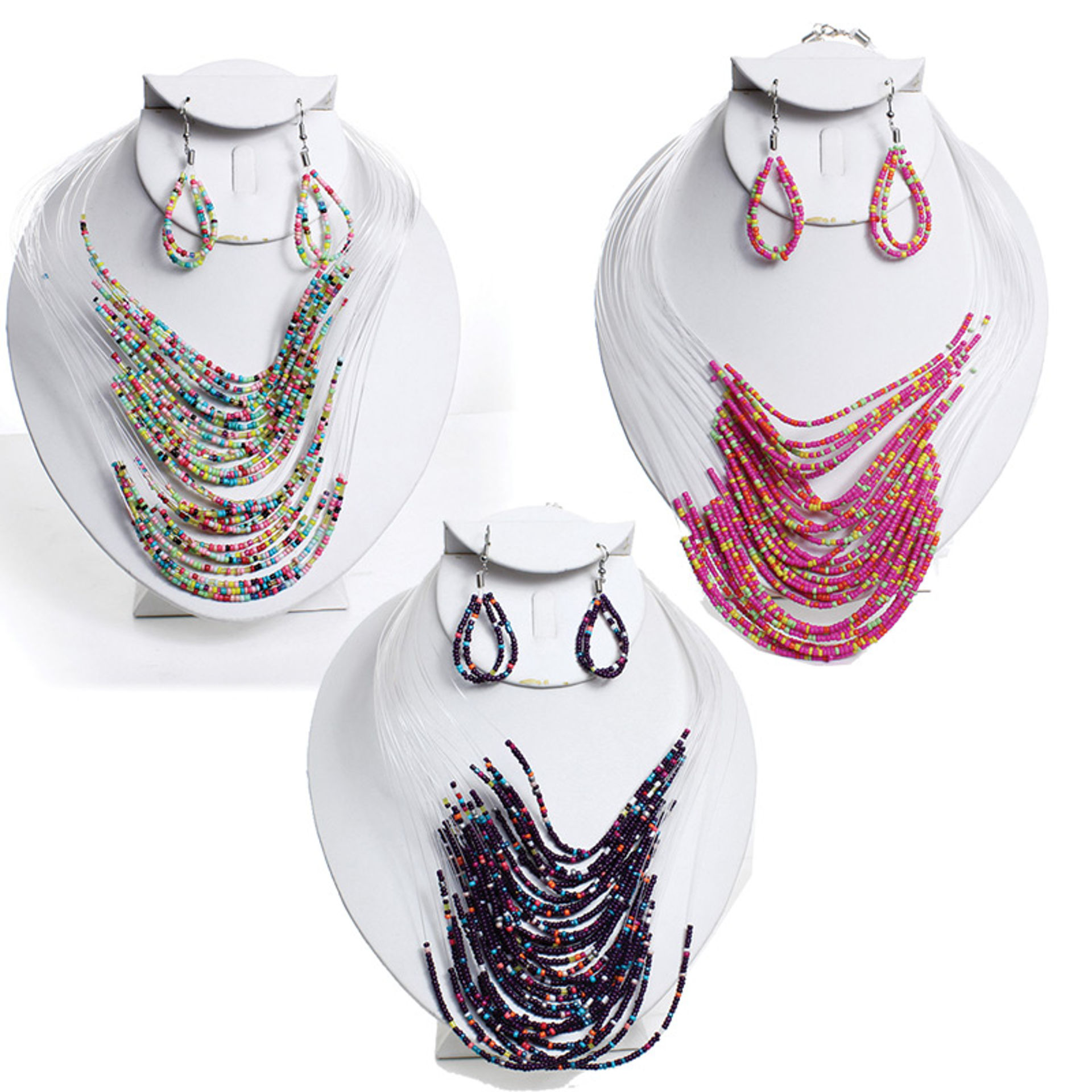 Picture of Beaded Necklace & Earring Set
