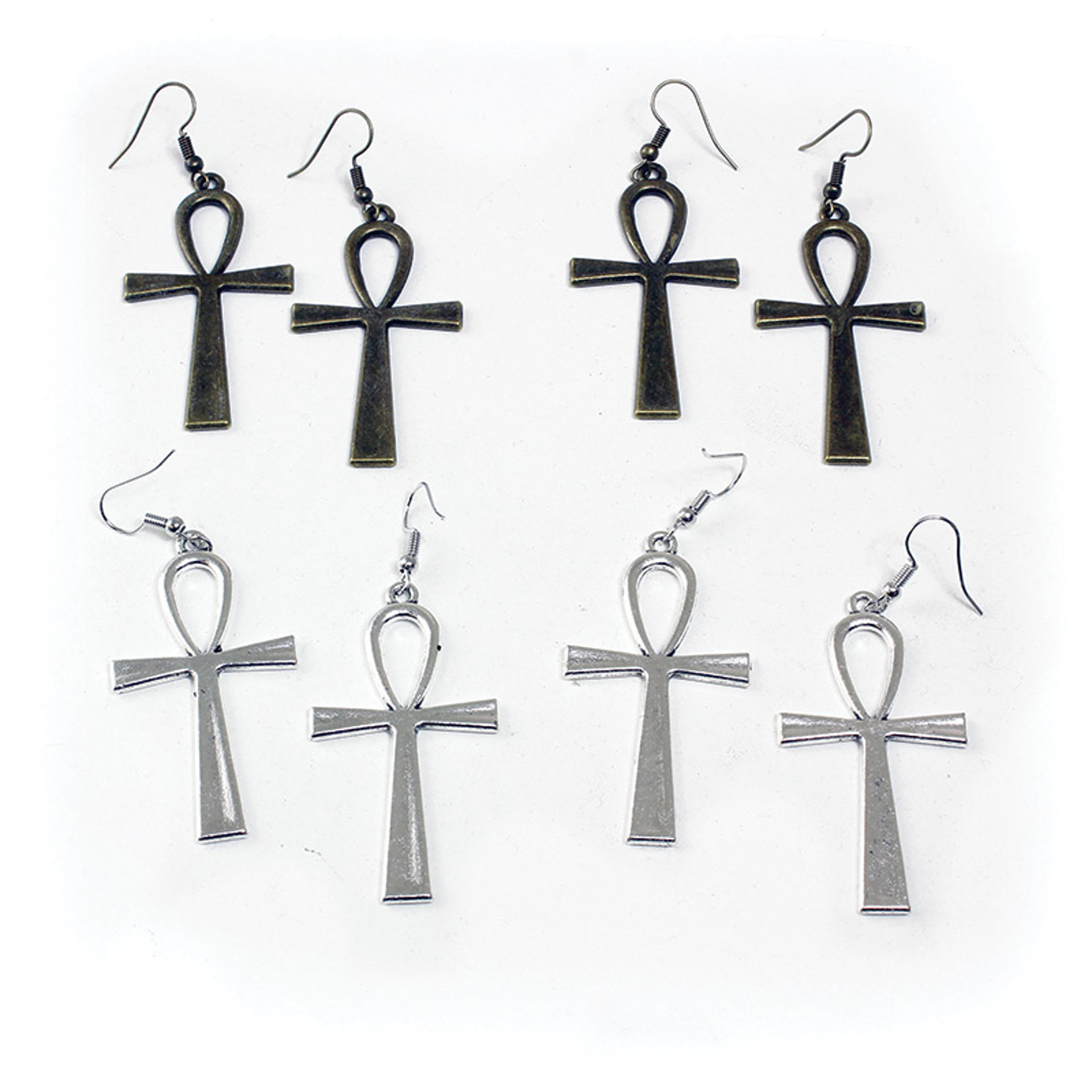 Picture of Set Of 4 Vintage Ankh Earring Pairs