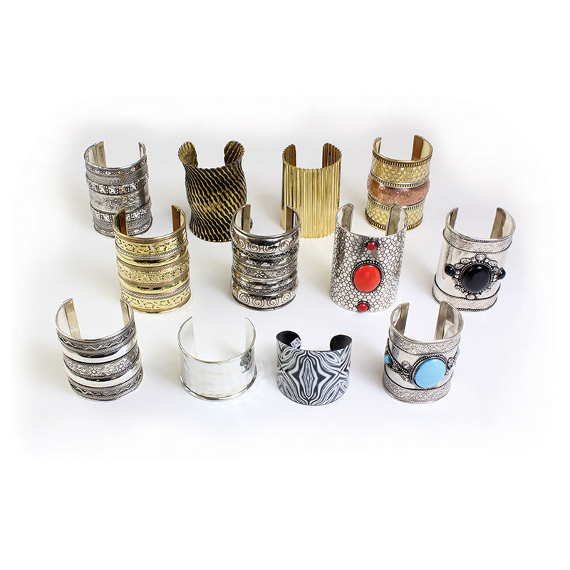 Picture of Set Of 12 Assorted Metal Cuffs