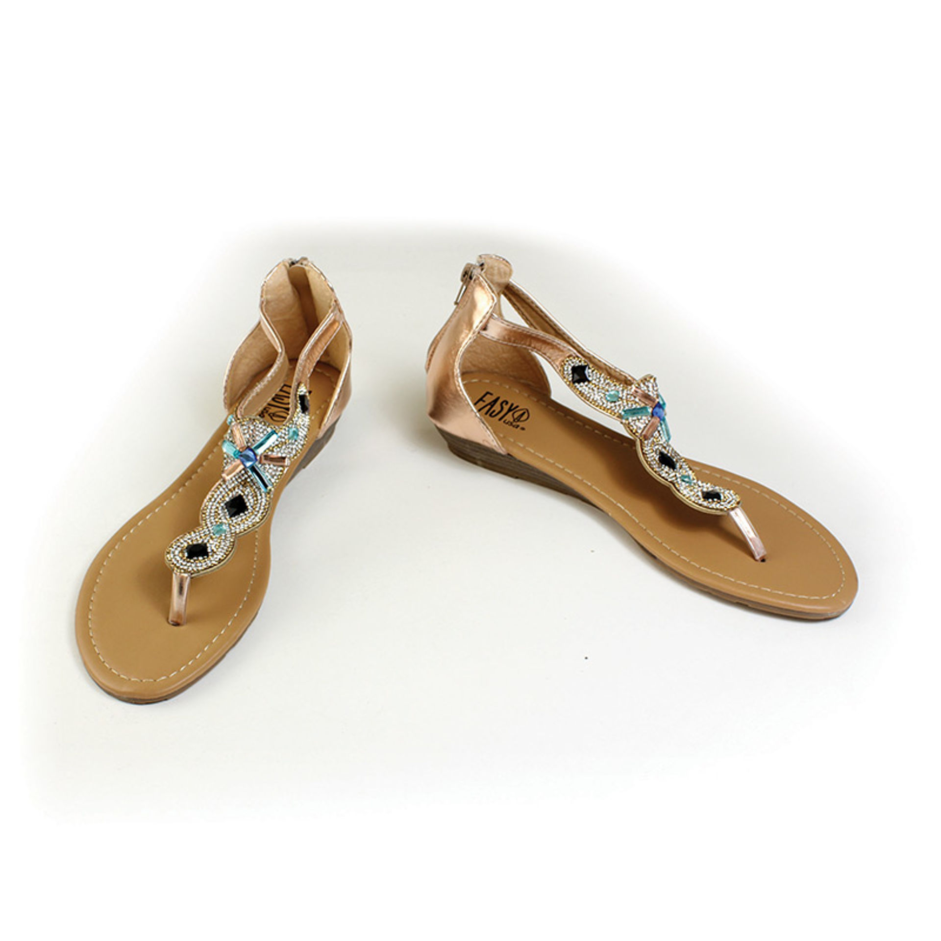 Picture of Rose-Gold Rhinestone Sandal