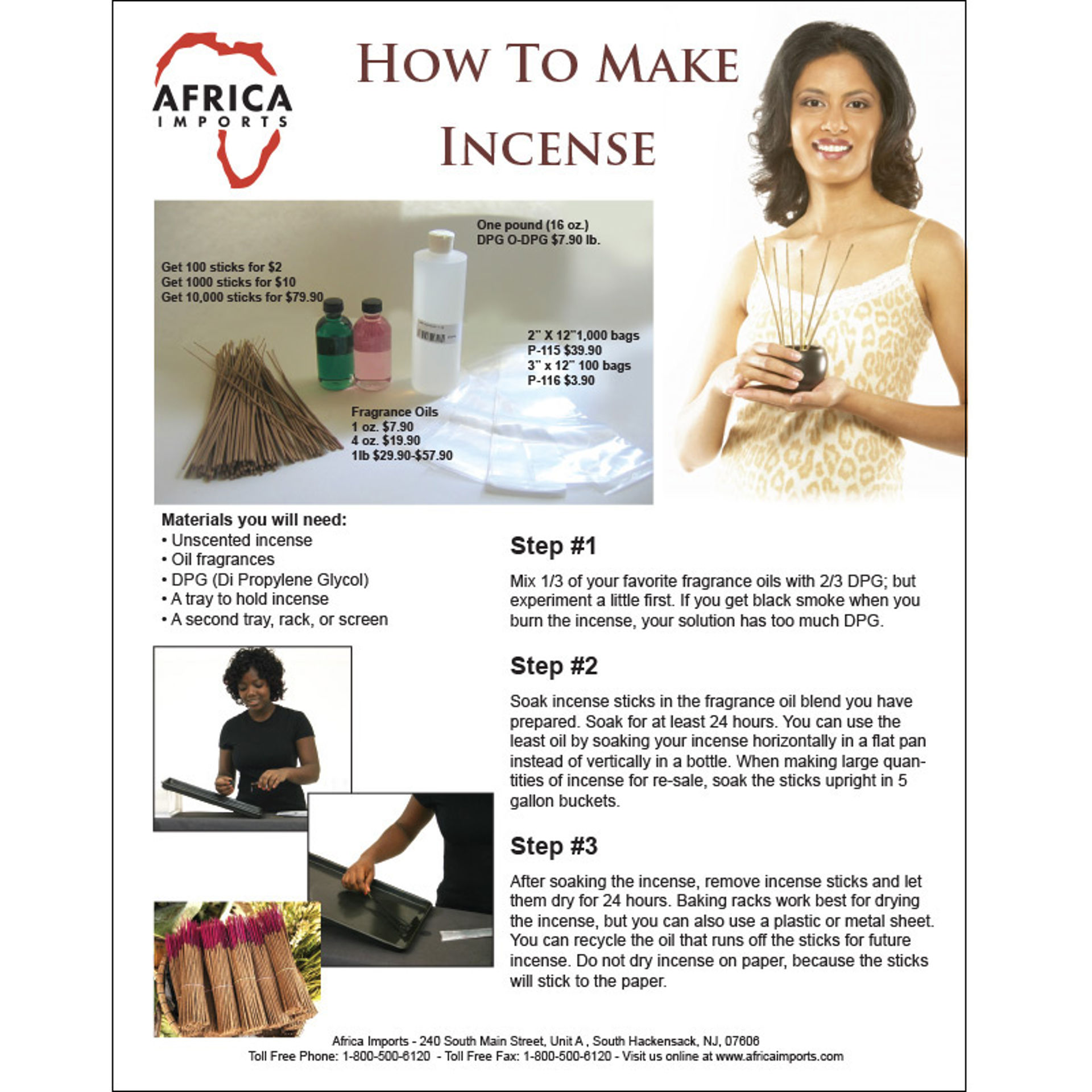 Picture of How To Make Incense Flyer