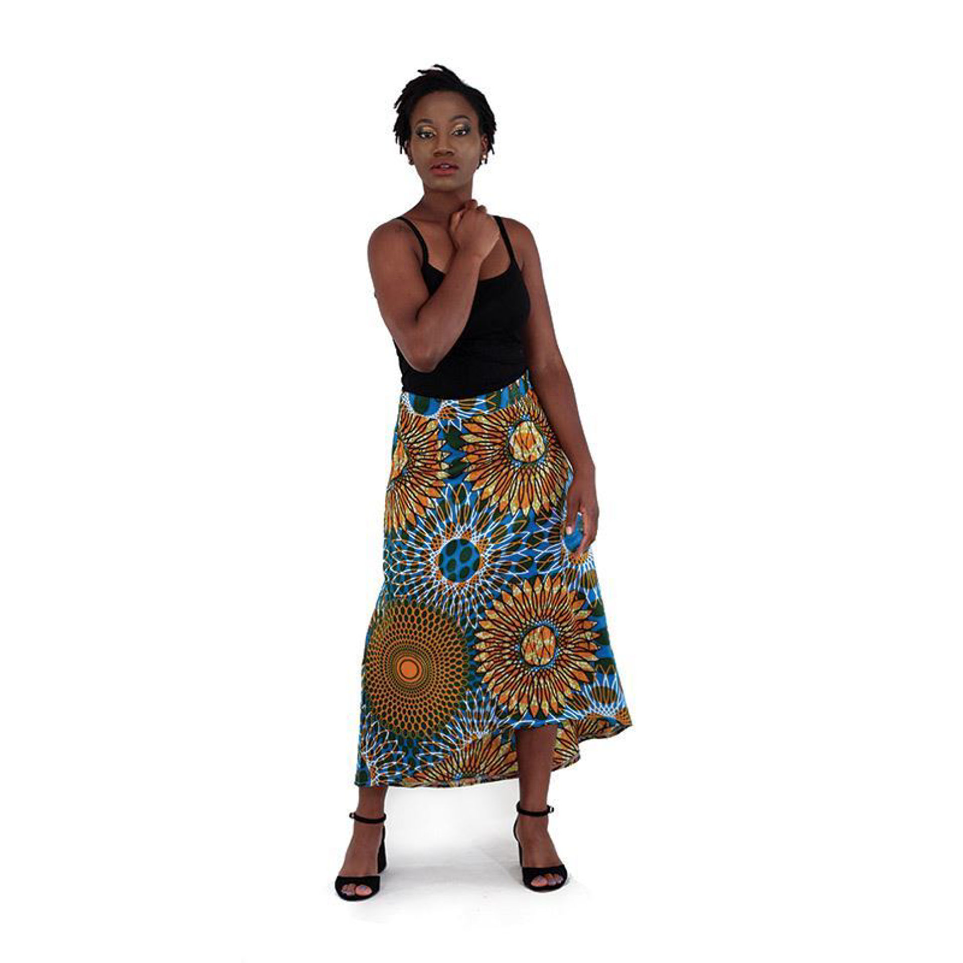 Picture of African-Made High Low Skirt: Orange