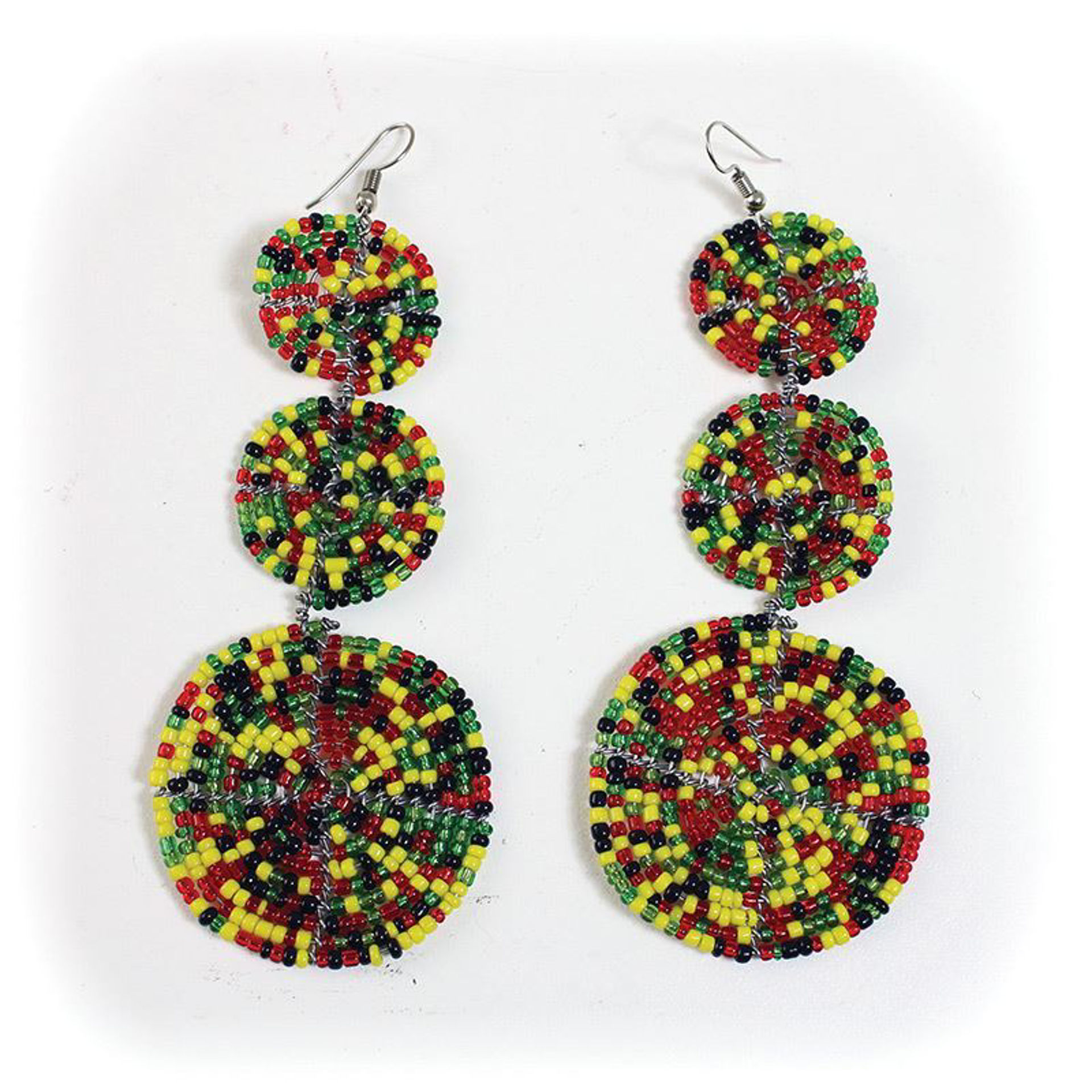 Picture of Multi-Color Beaded Maasai Earrings
