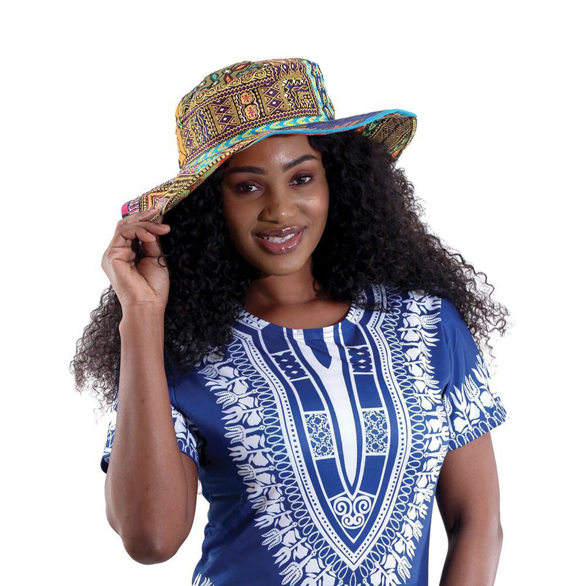 Picture of Kitenge Sun Hat - ASSORTED