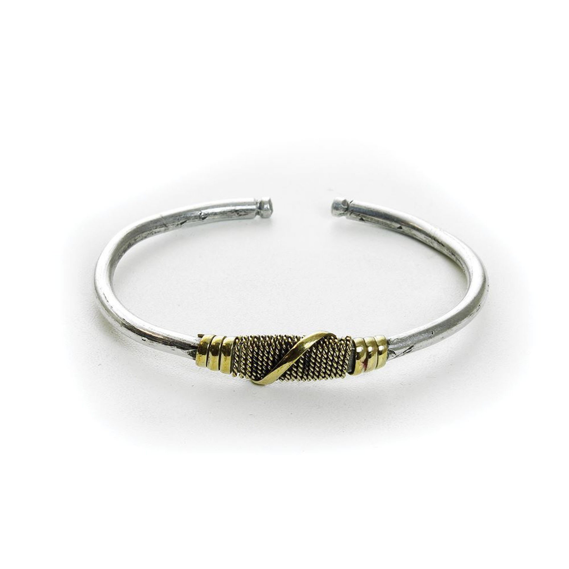 Picture of Silver & Gold Twist Metal Bracelet
