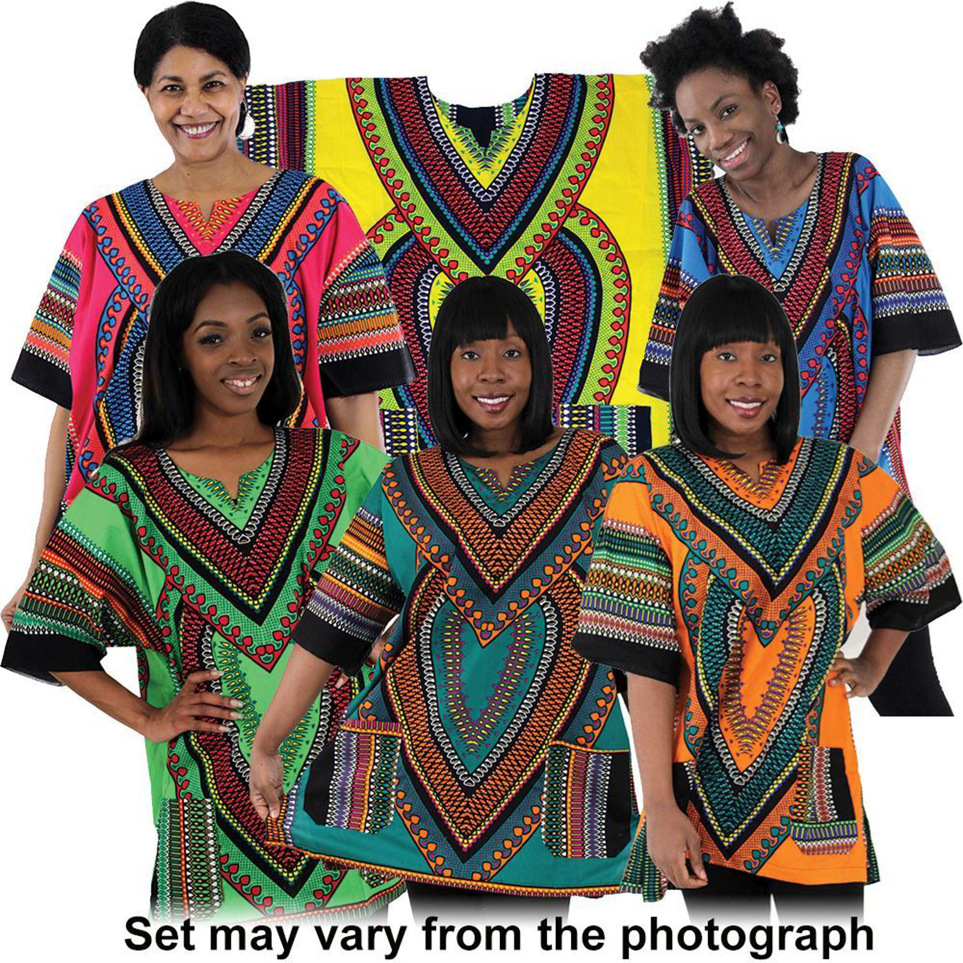 Picture of Set Of 6 Heart Of Africa Dashikis