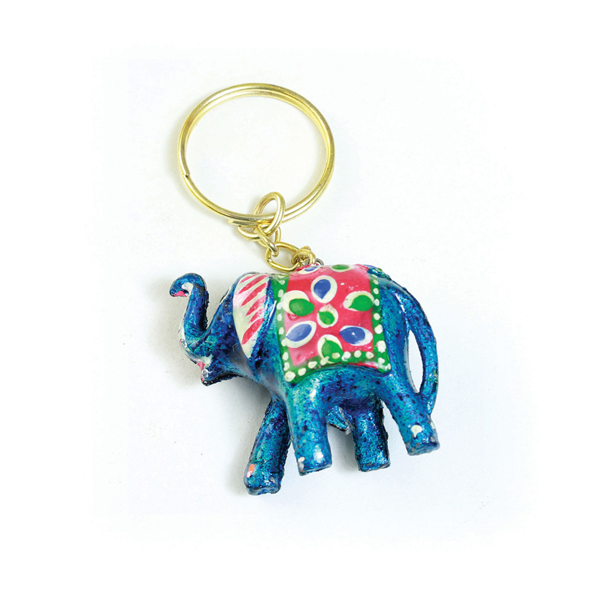 Picture of Painted Elephant Key Chain