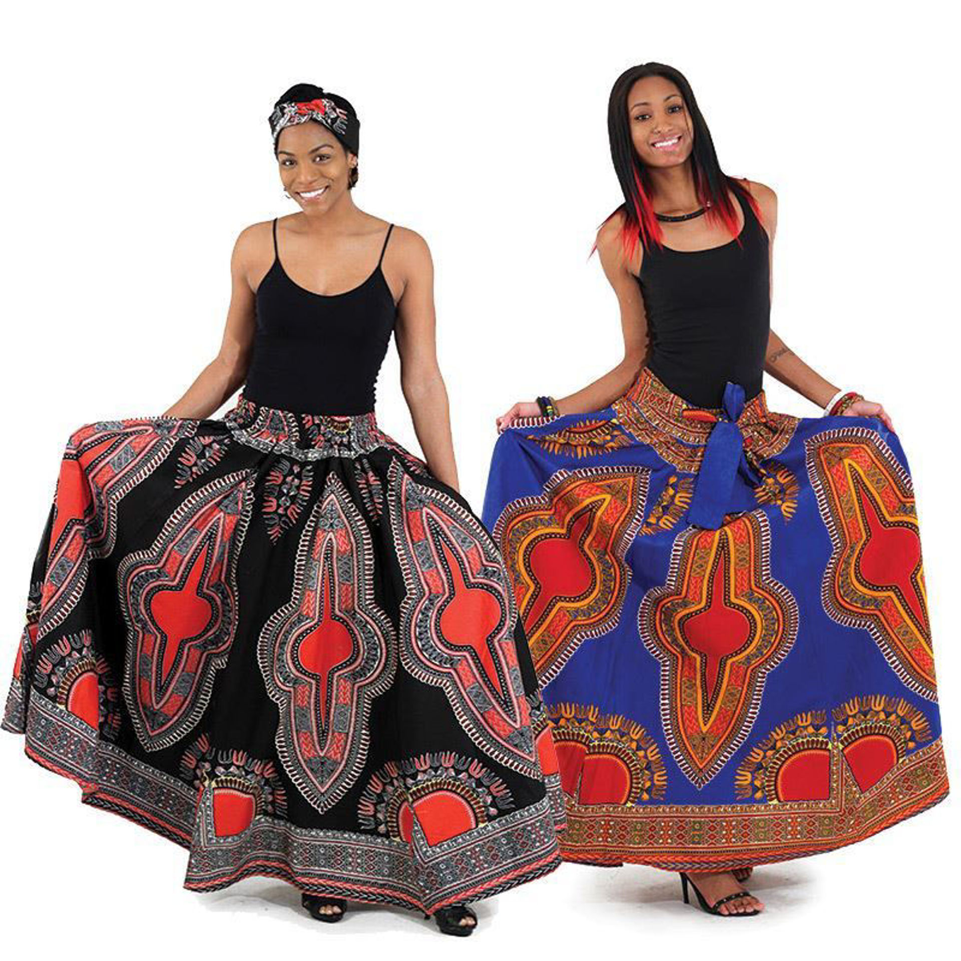 Picture of Traditional Print Maxi Skirt