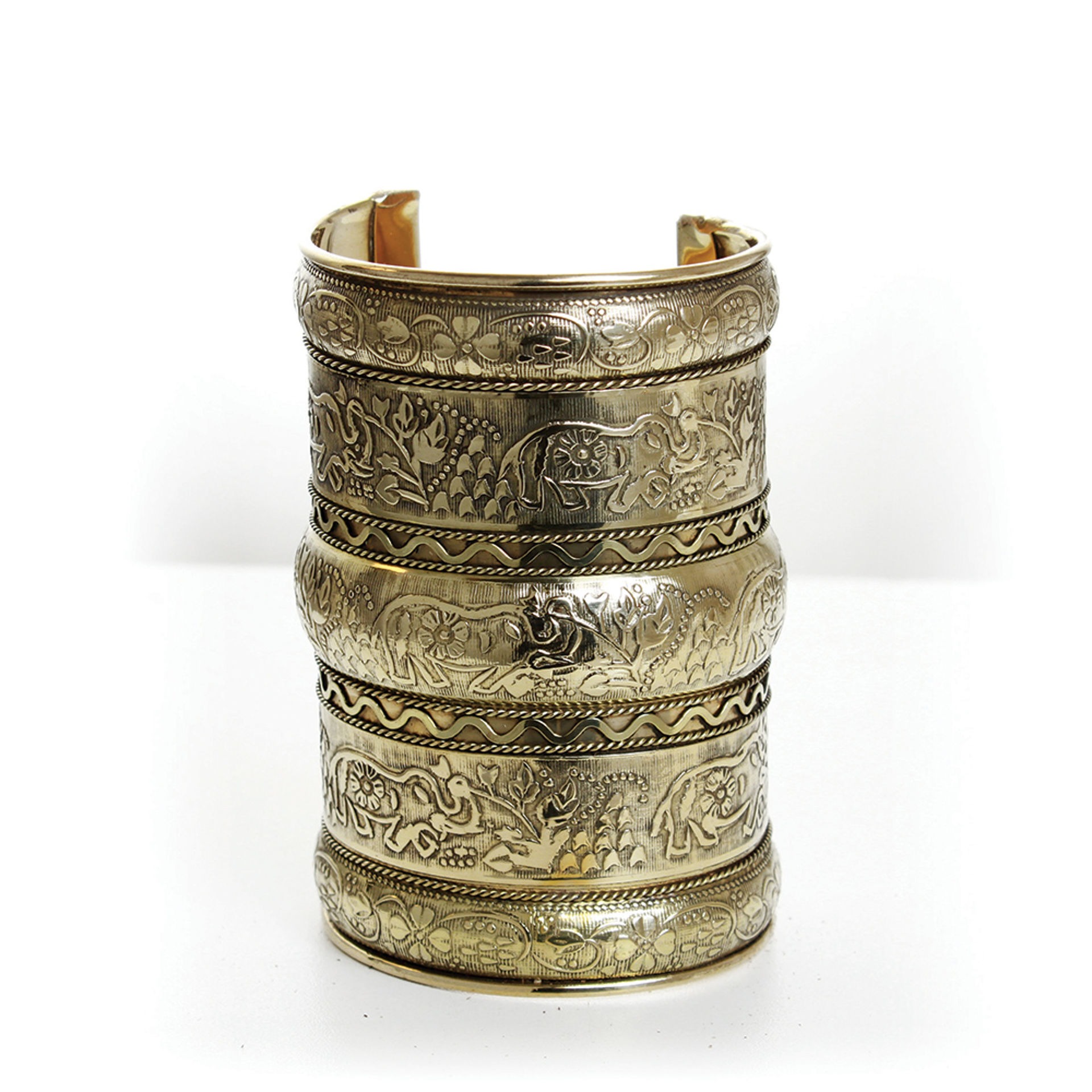 Picture of Elephant Long Cuff: Gold