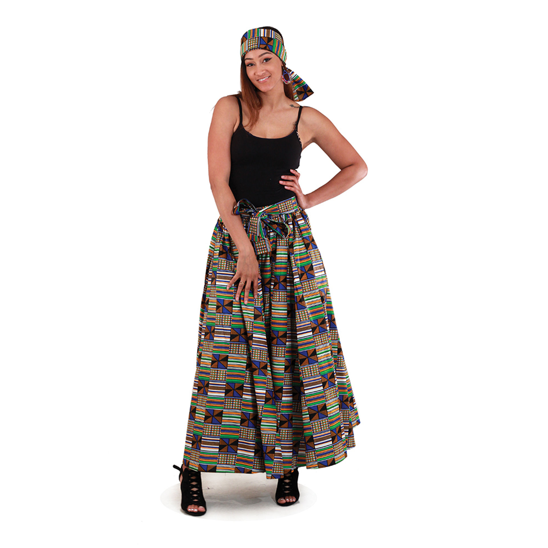 Picture of Kente Maxi Skirt