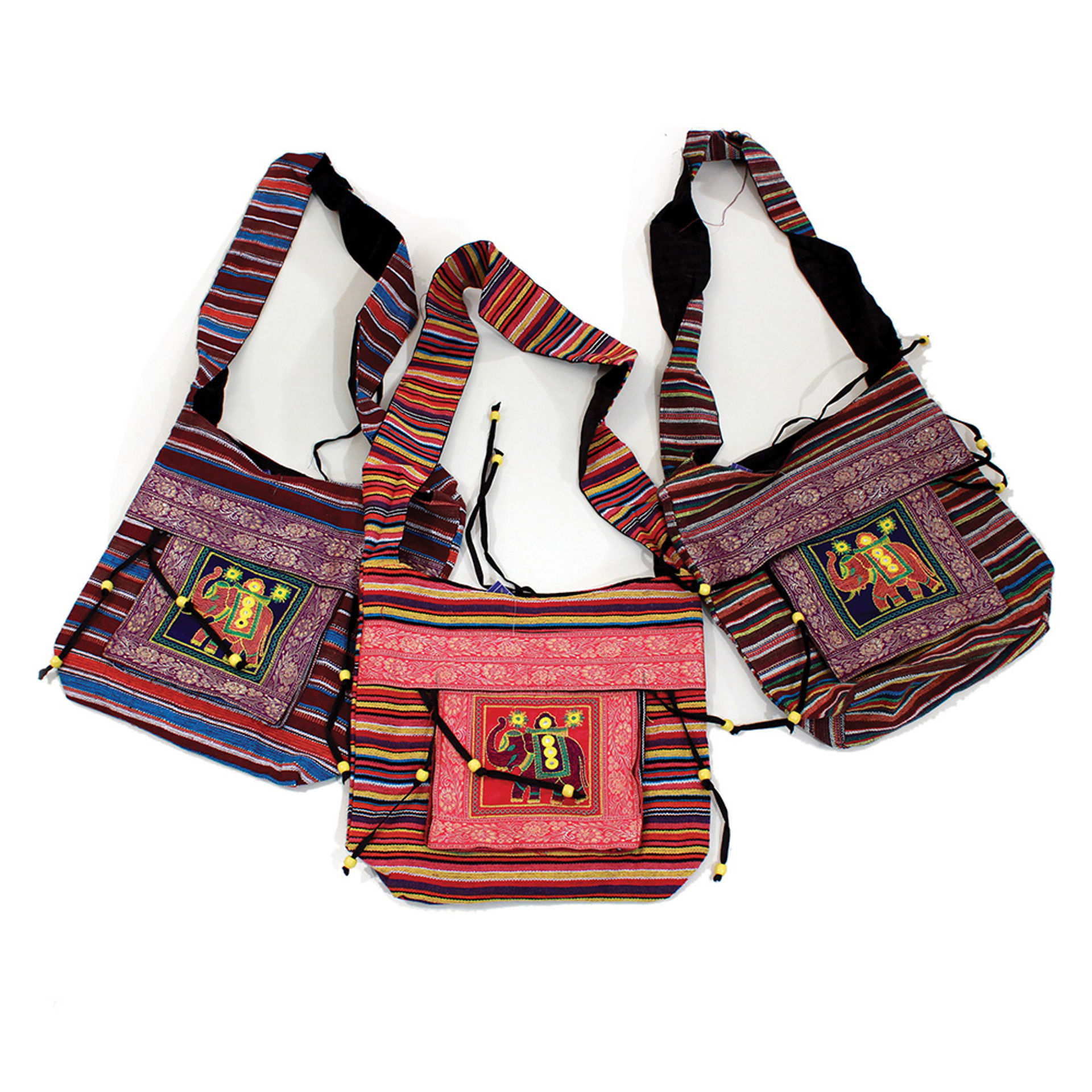 Picture of Set Of 3 Deluxe Royal Elephant Tote Bags