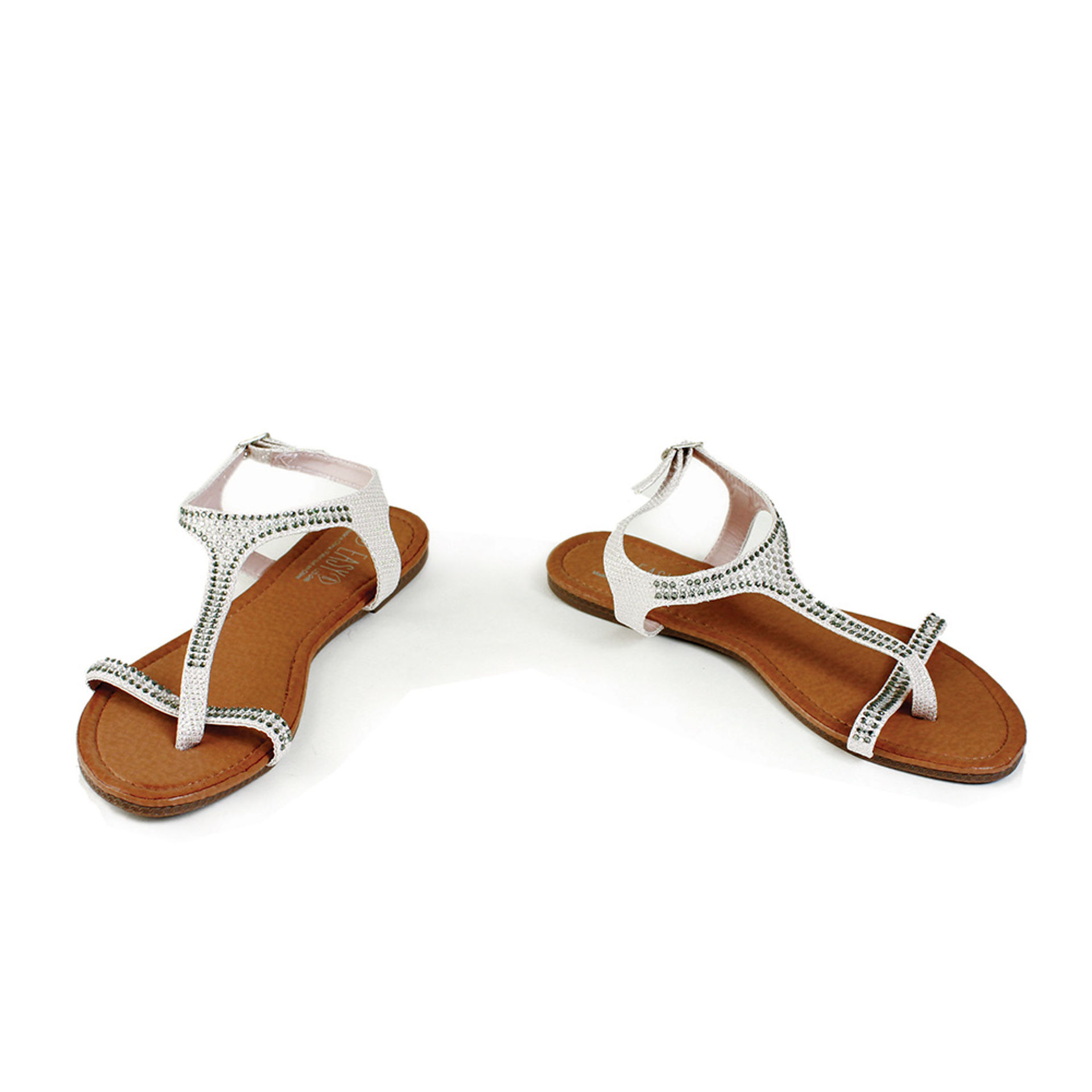 Picture of Rose-Gold Rhinestone Thong Sandal