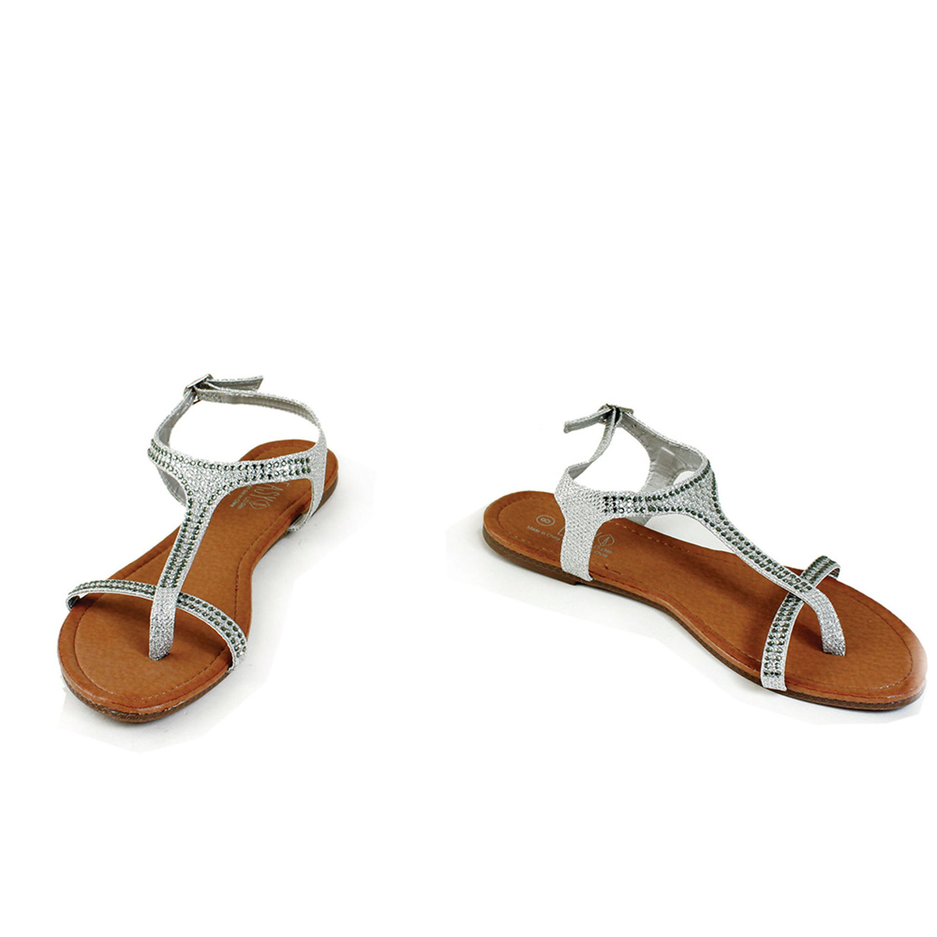 Picture of Silver Rhinestone Thong Sandal