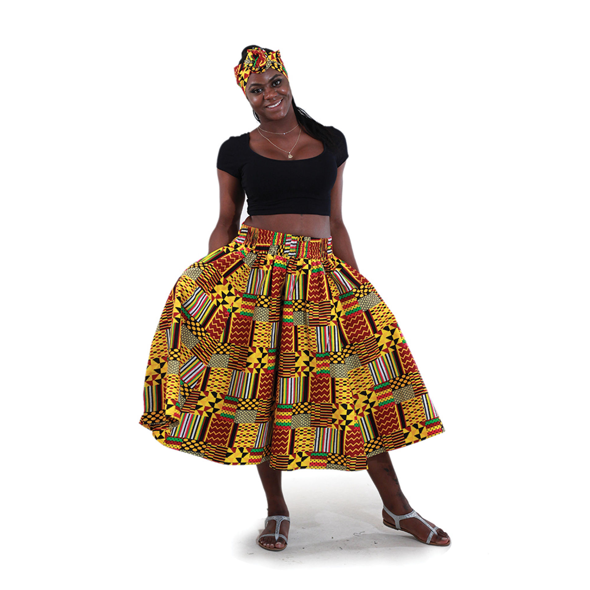 Picture of Patchwork Kente Skirt