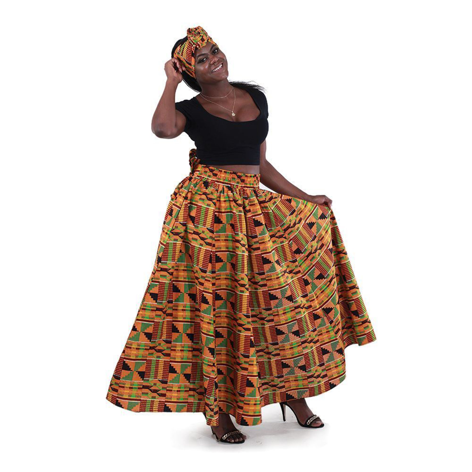 Picture of Kente Long Skirt #2