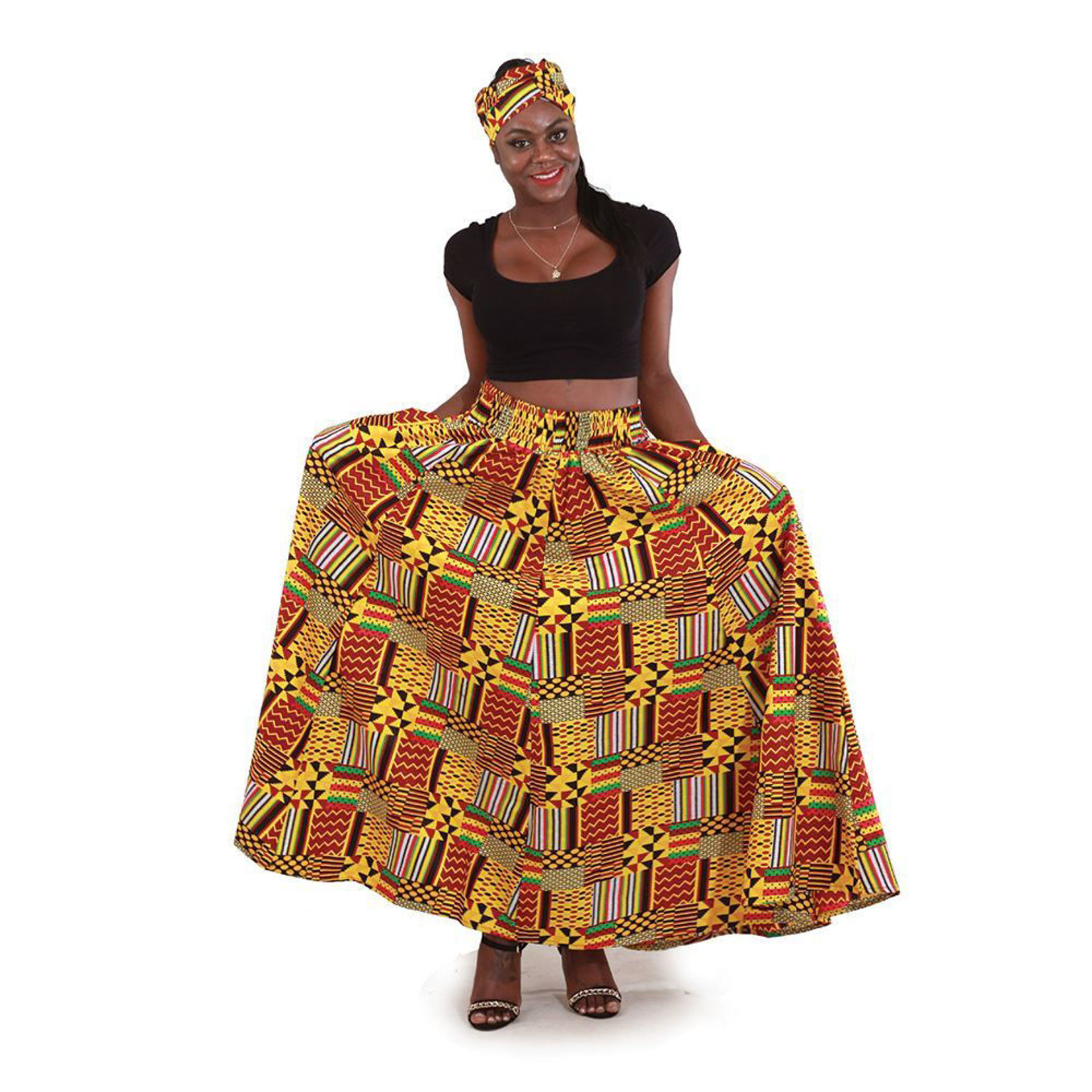 Picture of Patchwork Kente Long Skirt