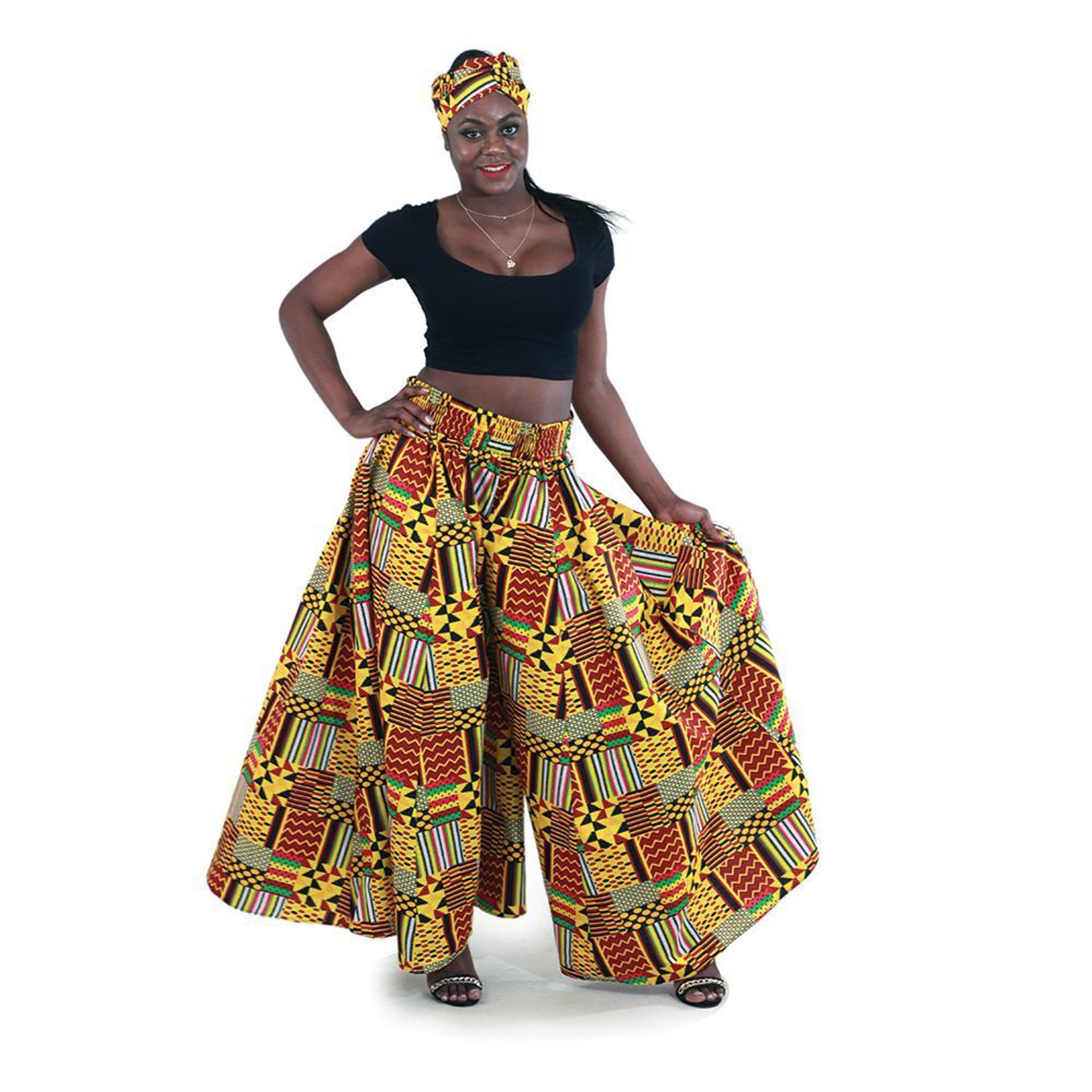 Picture of Patchwork Kente Palazzo Pants