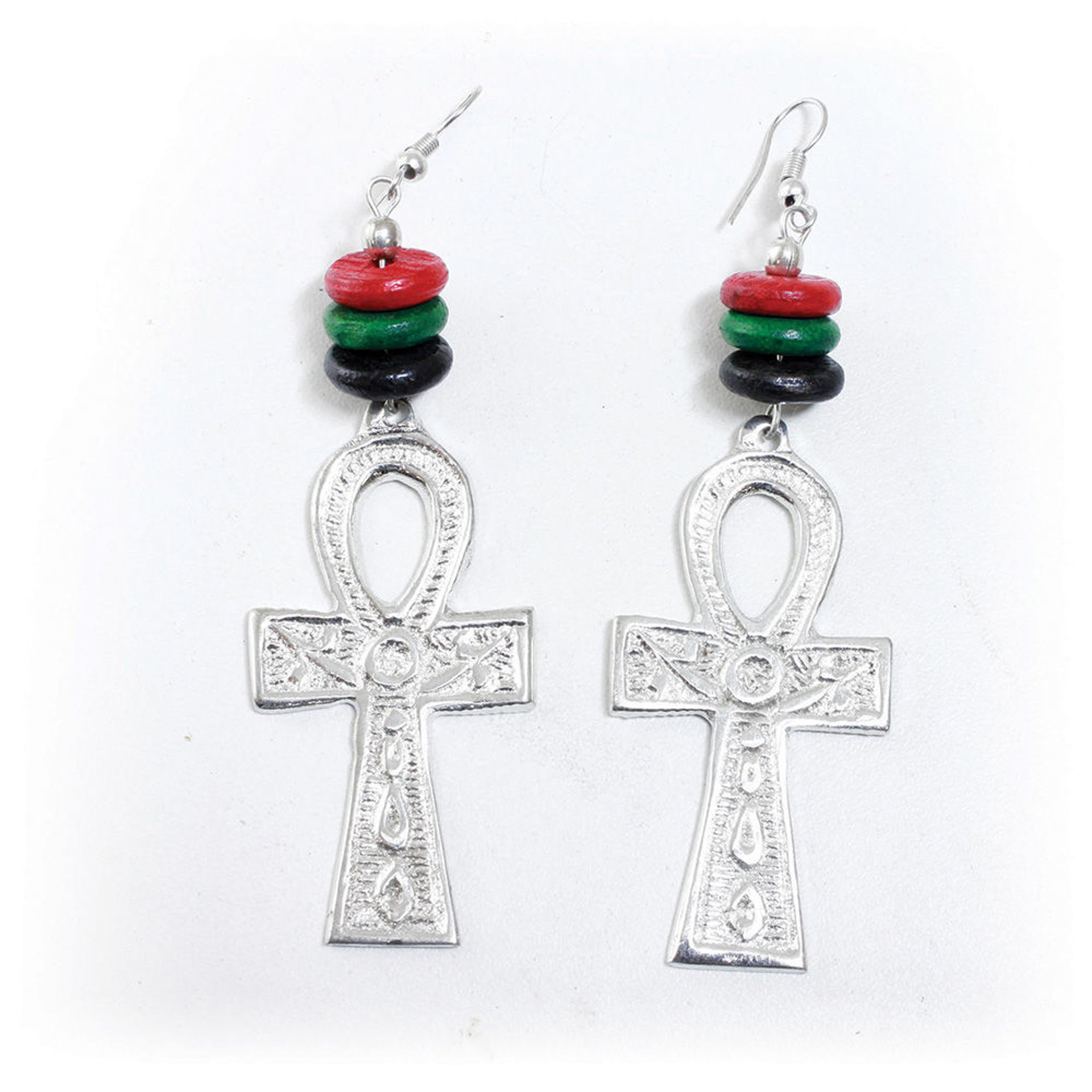 Picture of Silver Ankh Earrings