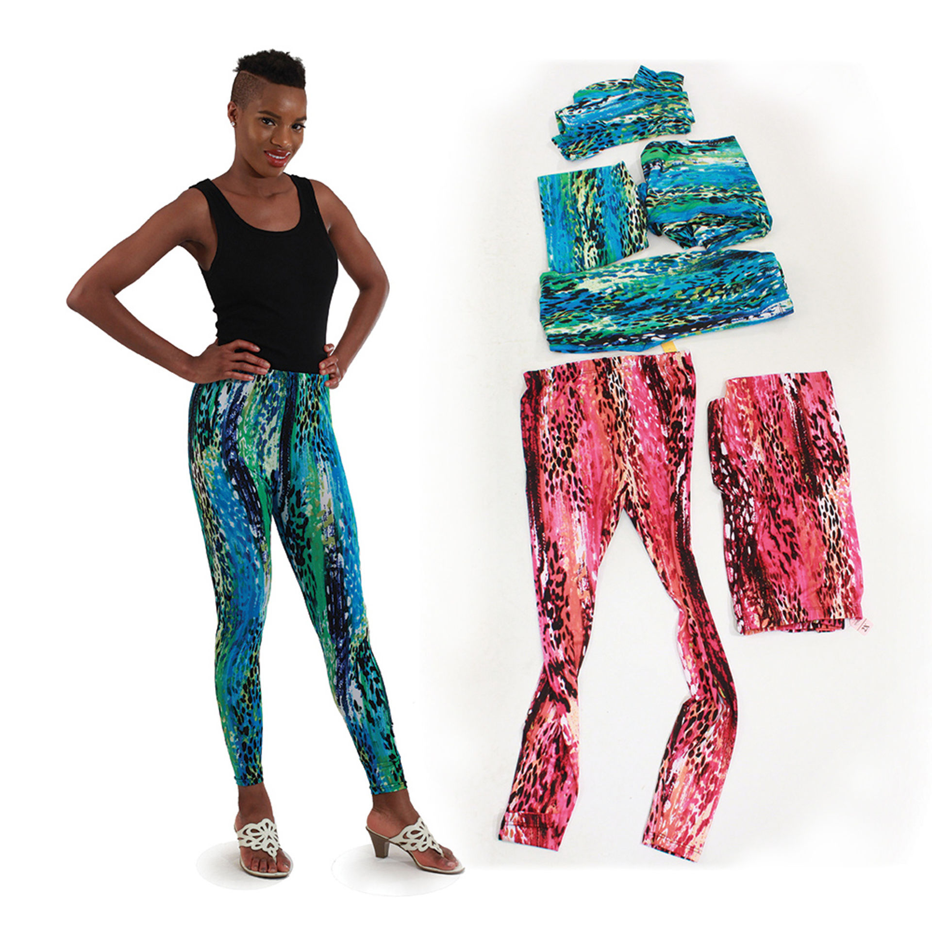 Picture of Set Of 6 Assorted Leopard Leggings