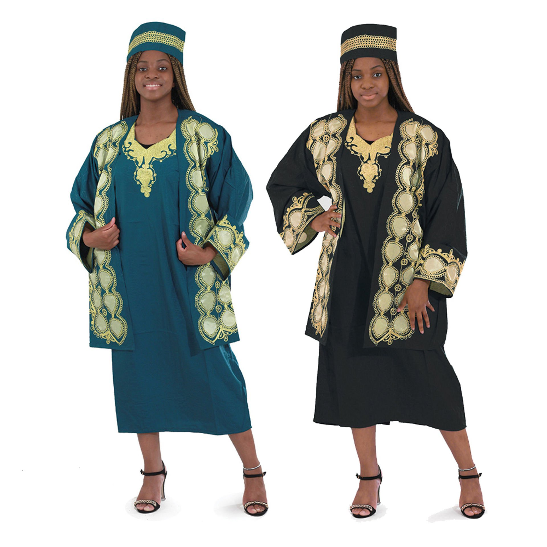 Picture of African Royalty Dress & Jacket Set