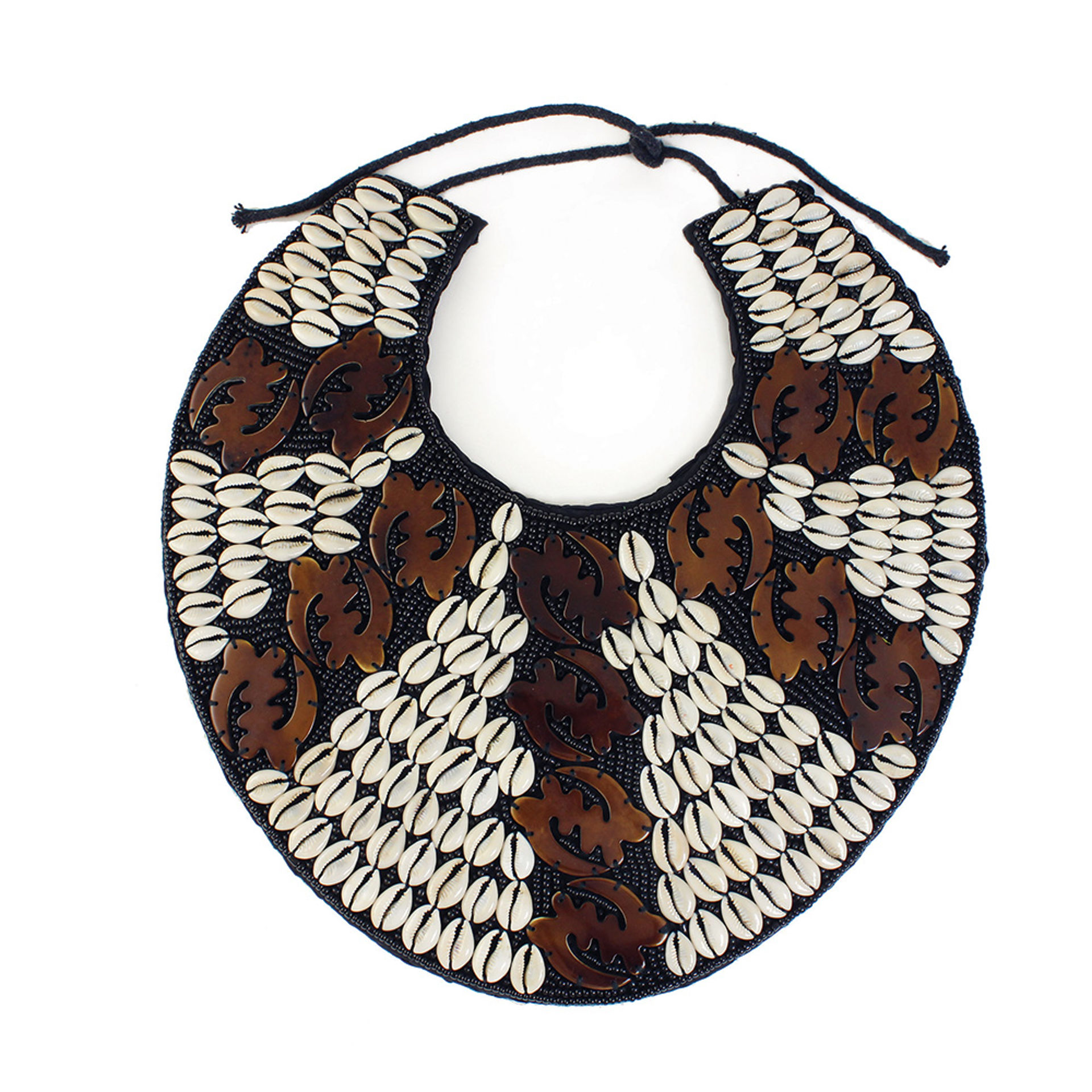 Picture of Gye Nyame Breastplate Necklace: Brown