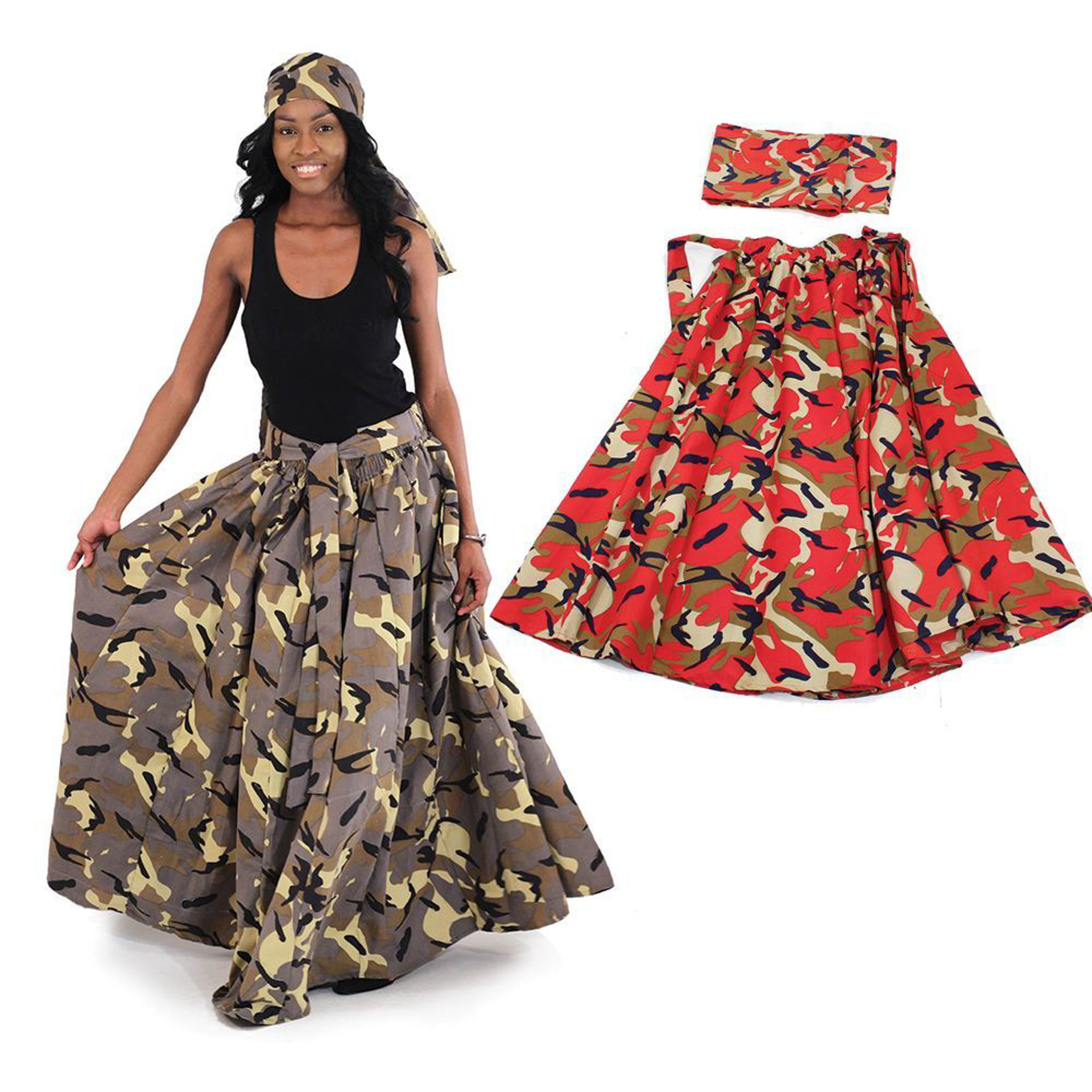 Picture of Woodland Camo Long Skirt