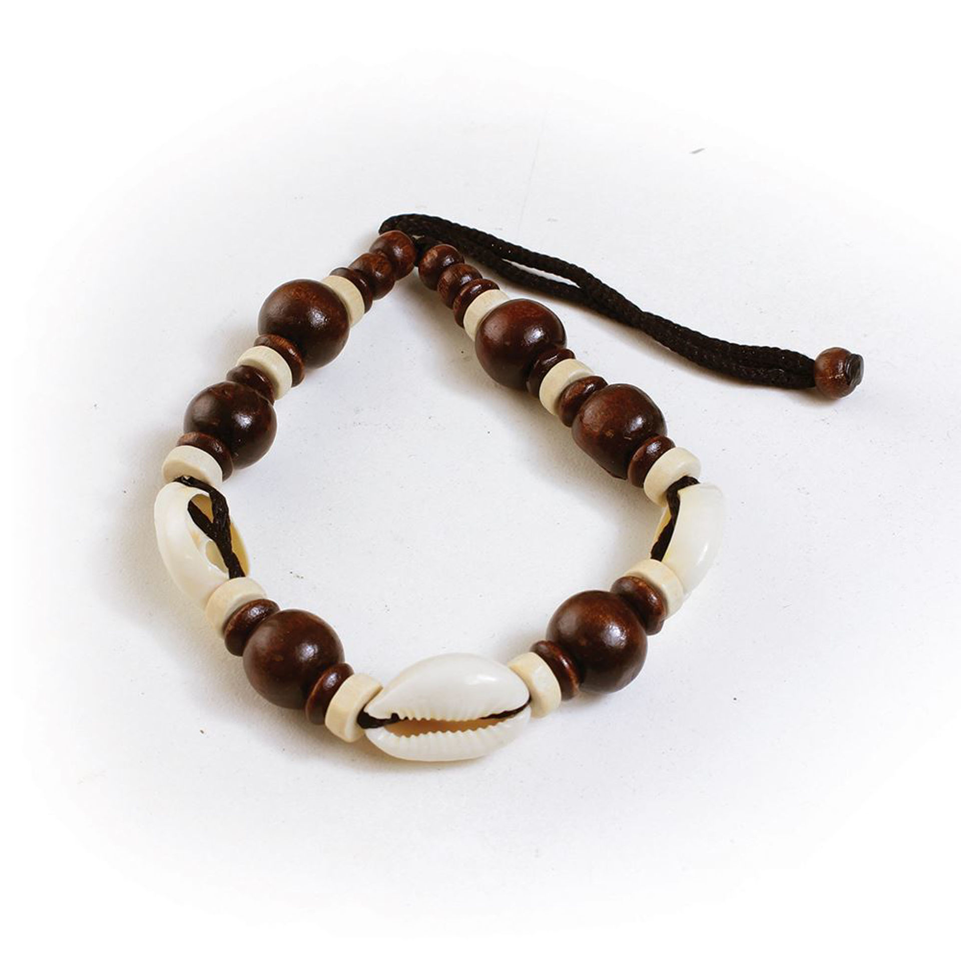 Picture of Dark Wood & Cowrie Shells Bracelet