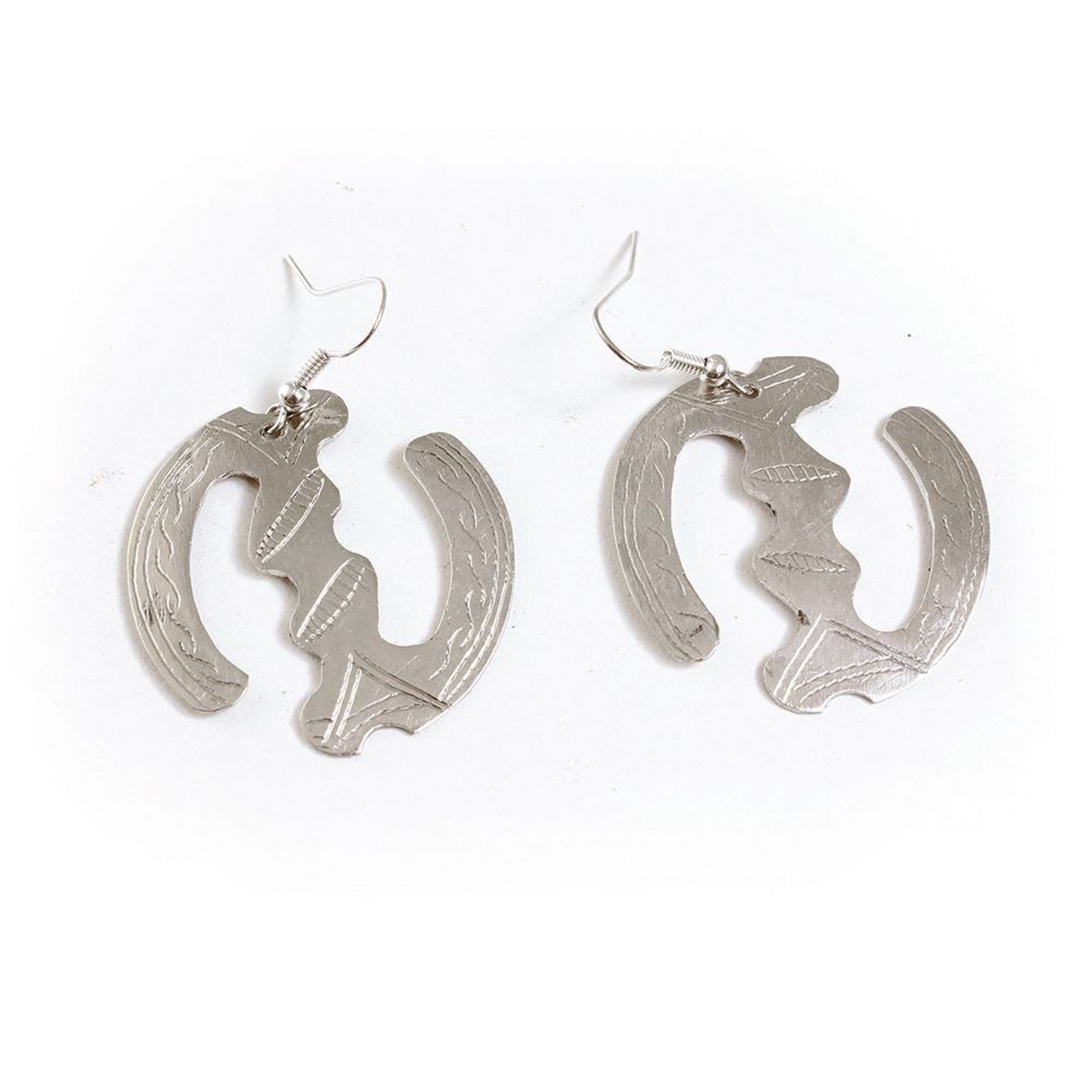 Picture of Silver Gye Nyame Earrings