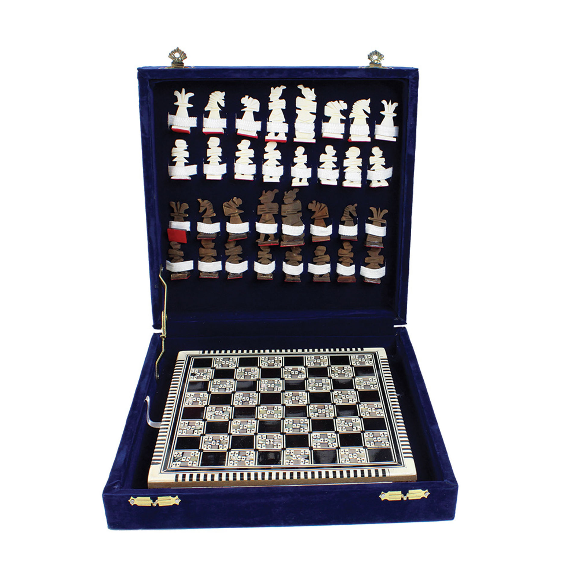 Picture of Egyptian Mother Of Pearl Chess Set - LG