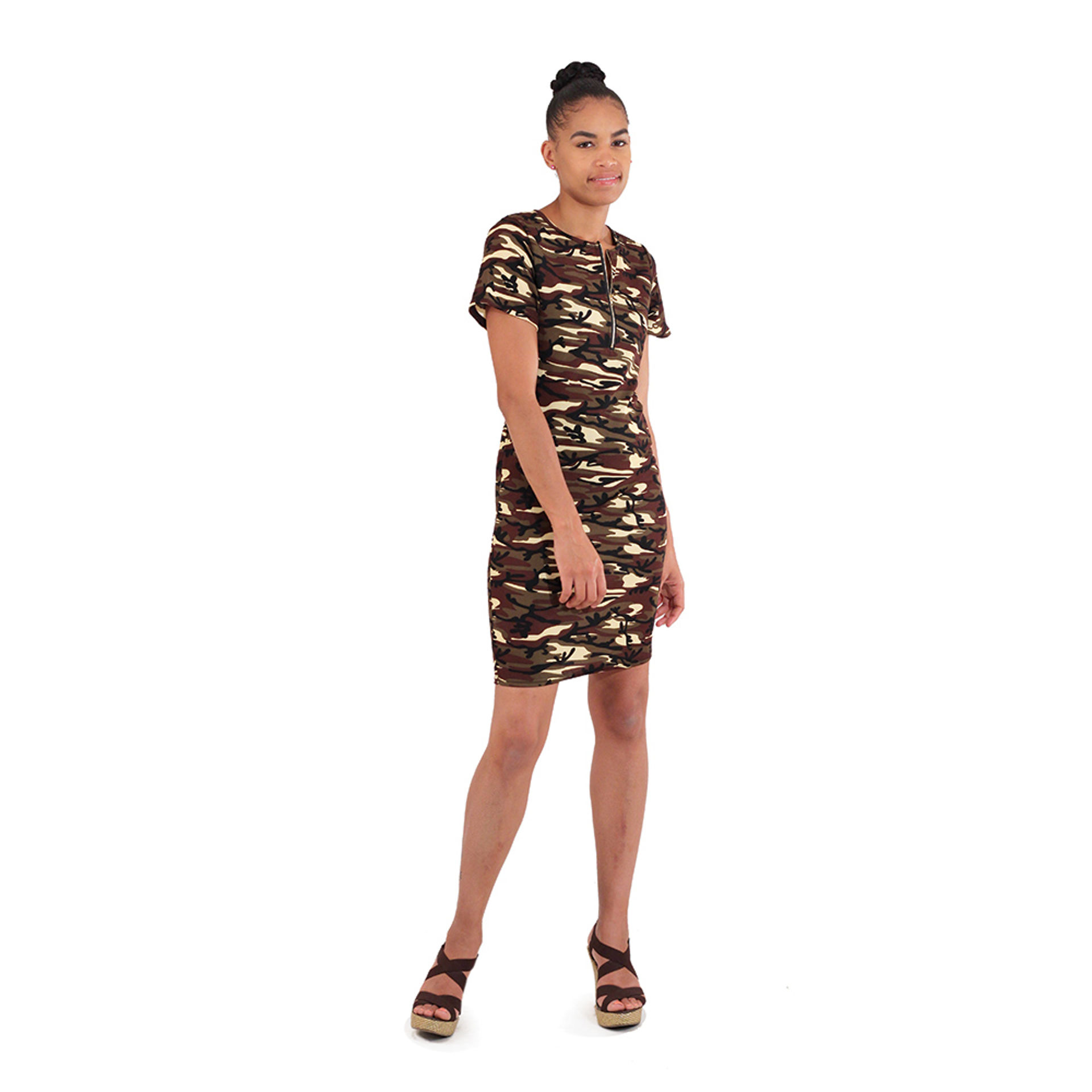 Picture of Green Camo Party Dress