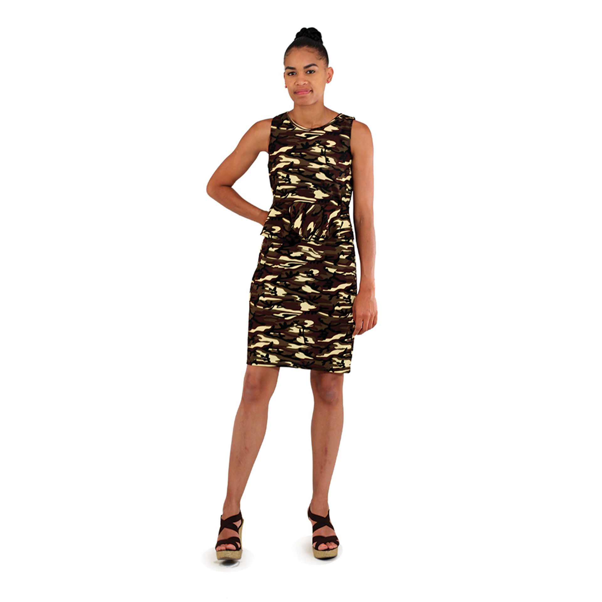 Picture of Green Camo Sleeveless Dress