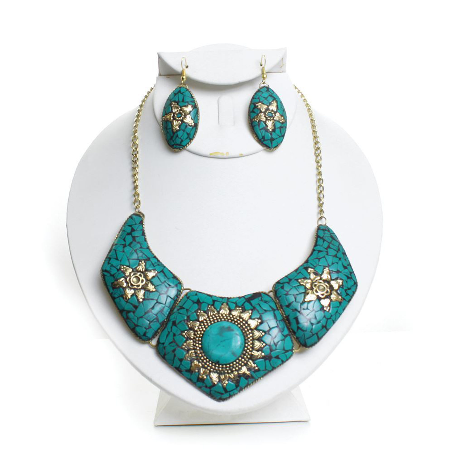 Picture of Queen Nefertiti Turquoise Necklace Set