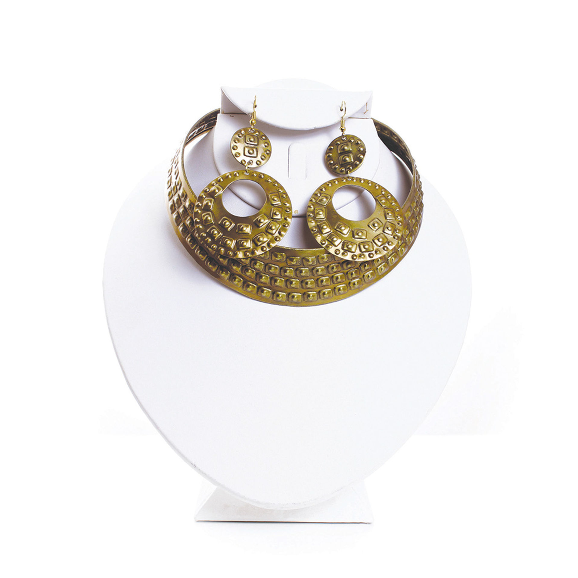 Picture of Studded Brass Choker & Earrings