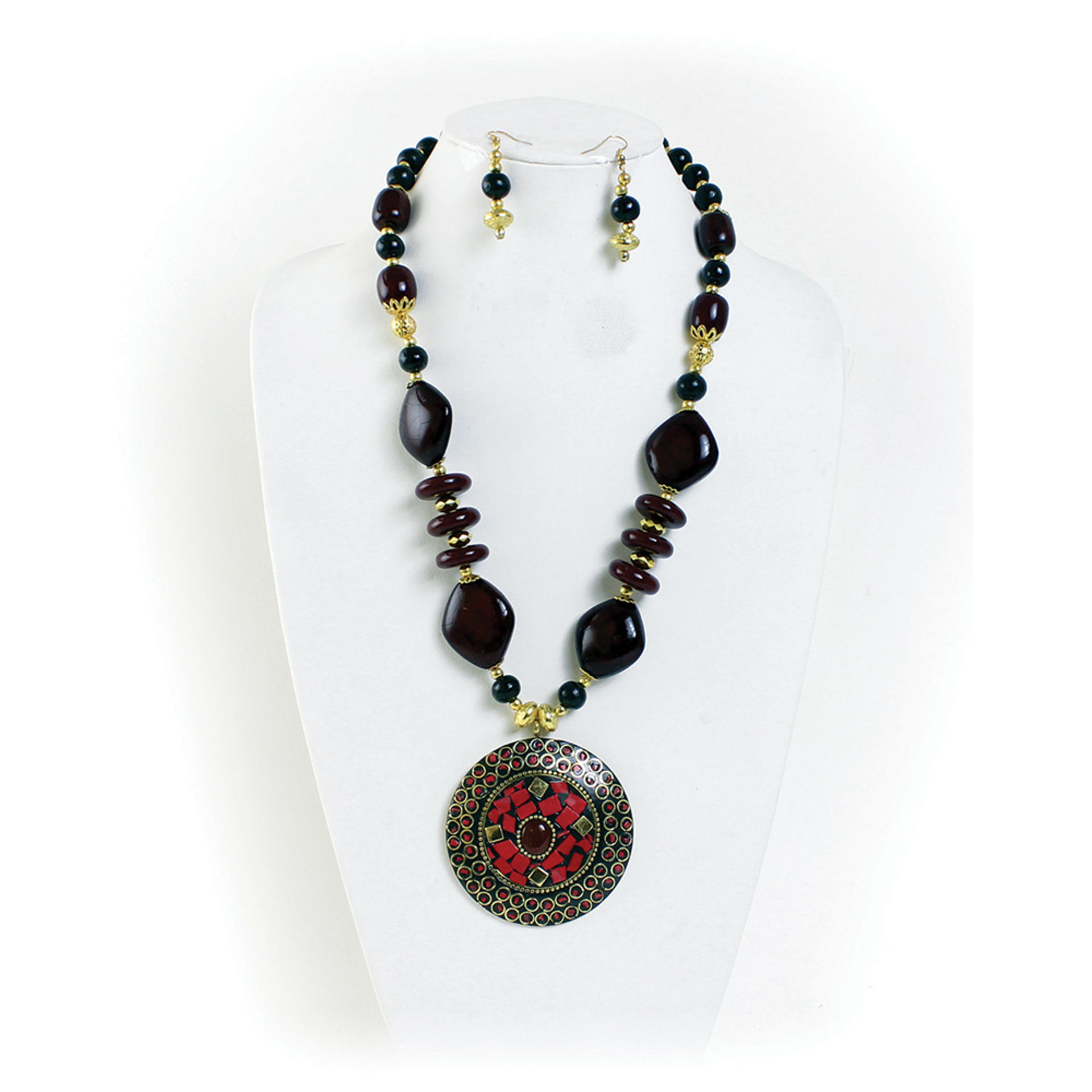 Picture of Sacred Ruby Necklace & Earrings
