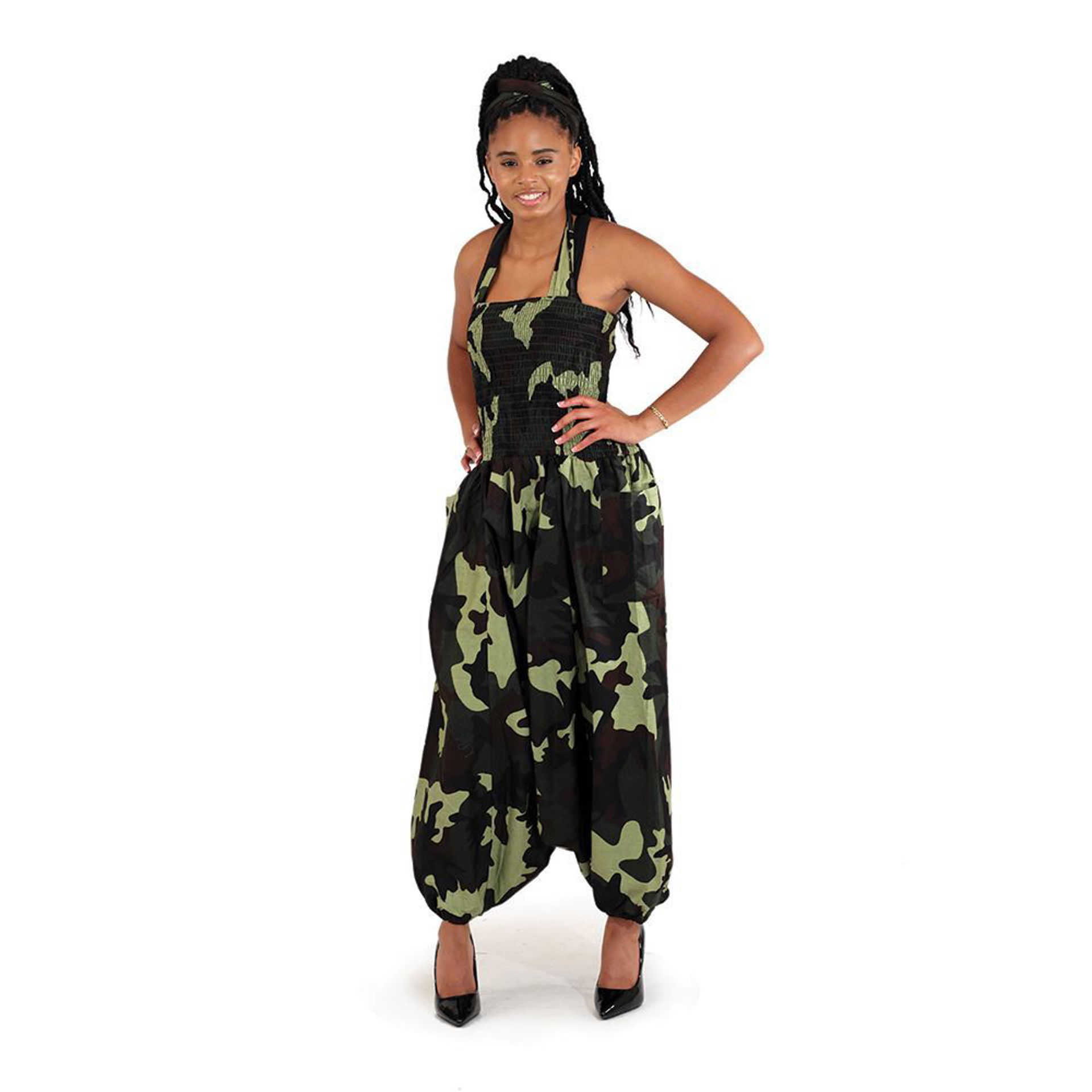 Picture of Camo Big Pocket Jumpsuit: Green