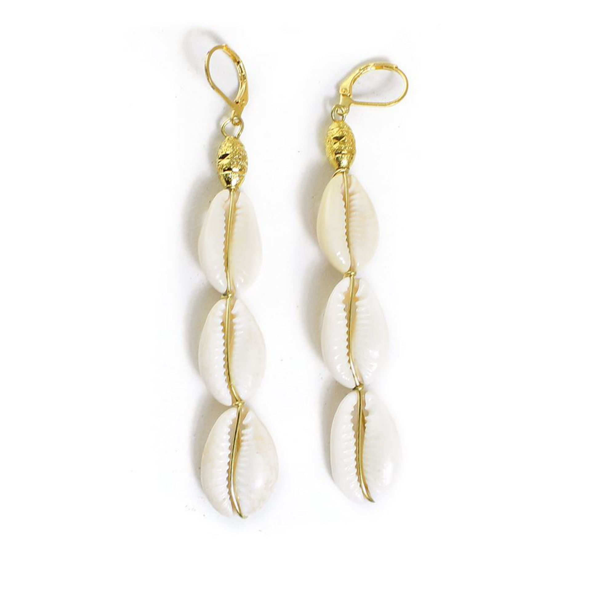 Picture of Cowrie Shell Drop Earrings