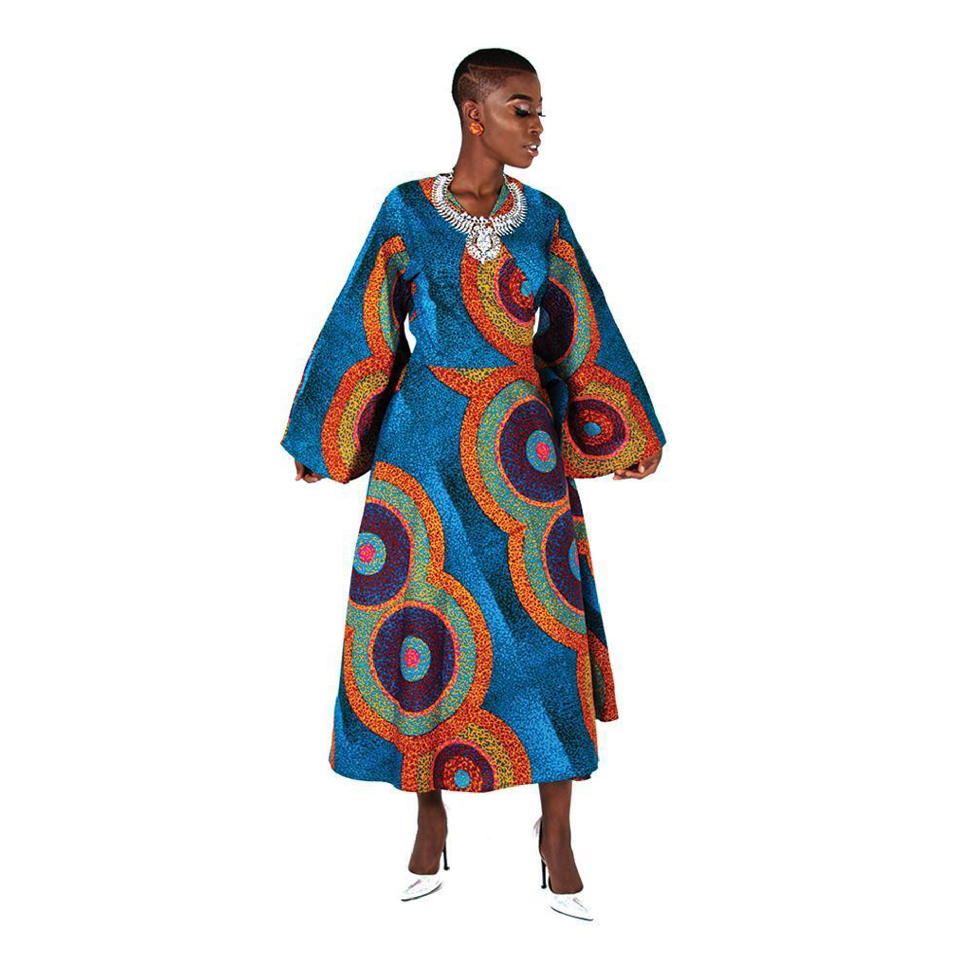Picture of African Print Wrap Dress