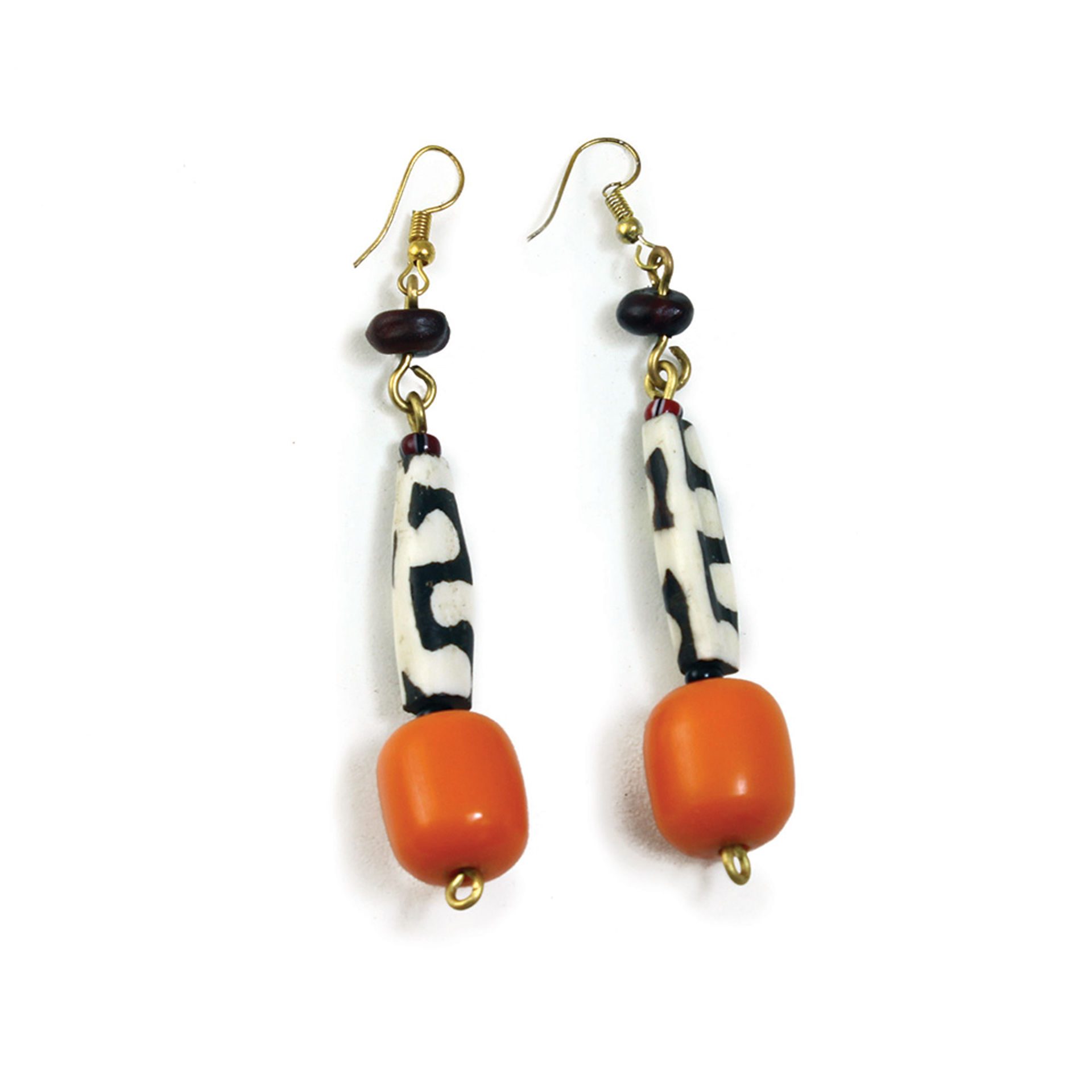 Picture of Amber & Bone Earrings