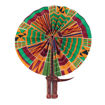 Picture of Kenyan Kente Folding Fan: Style-1