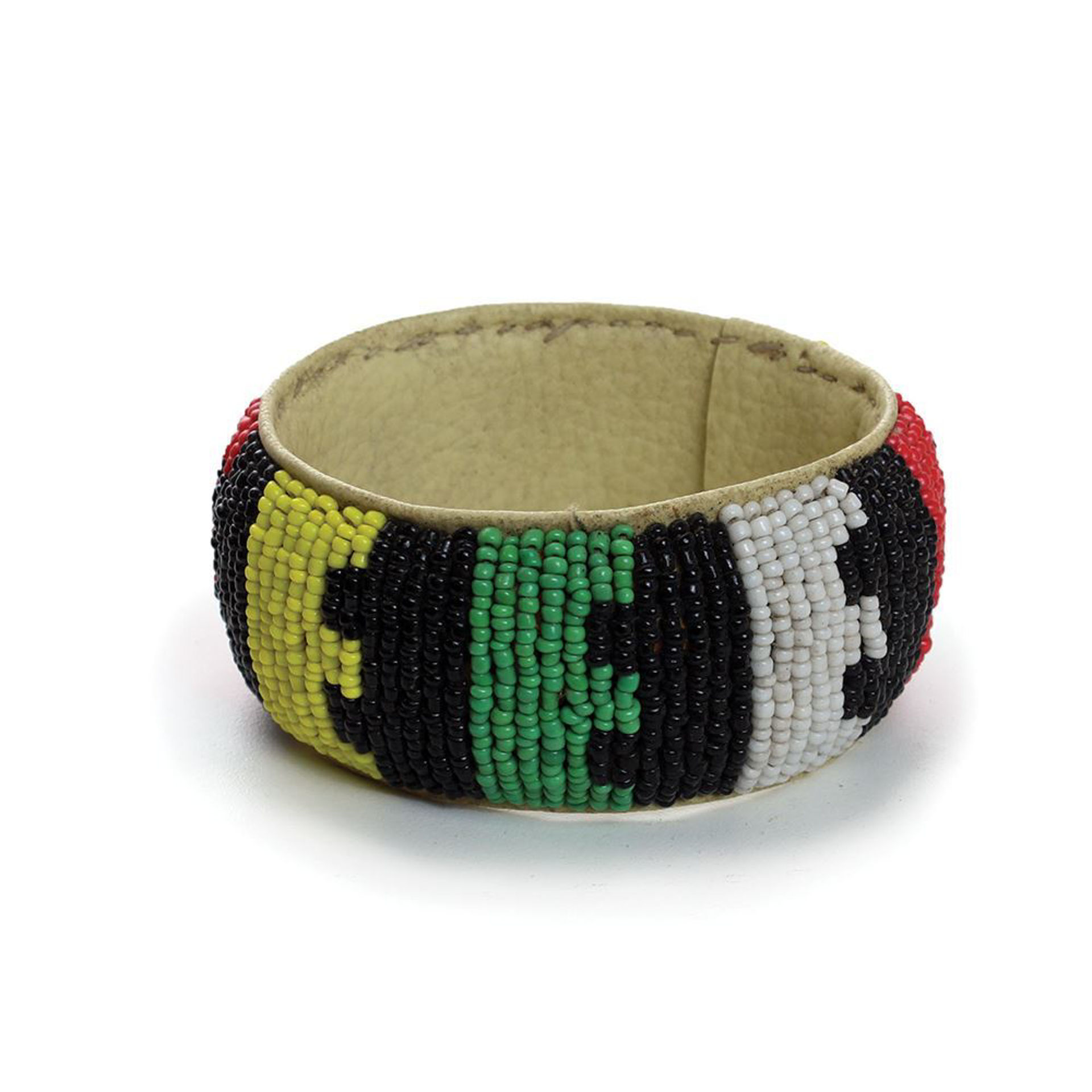Picture of African Beaded Wide Leather Bracelet: SM