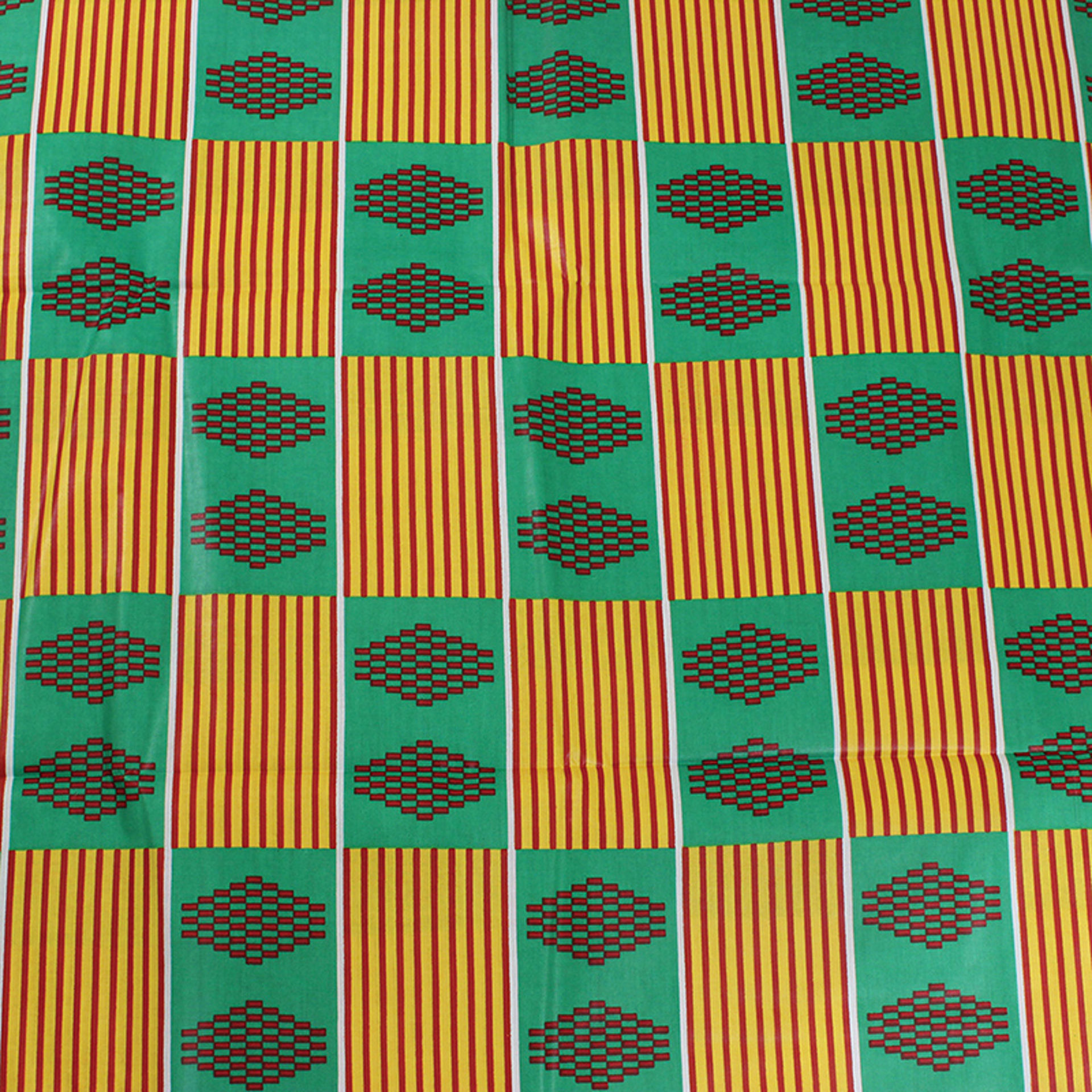 Picture of Economy Fabric: Grn/Yel Kente - 12 Yards