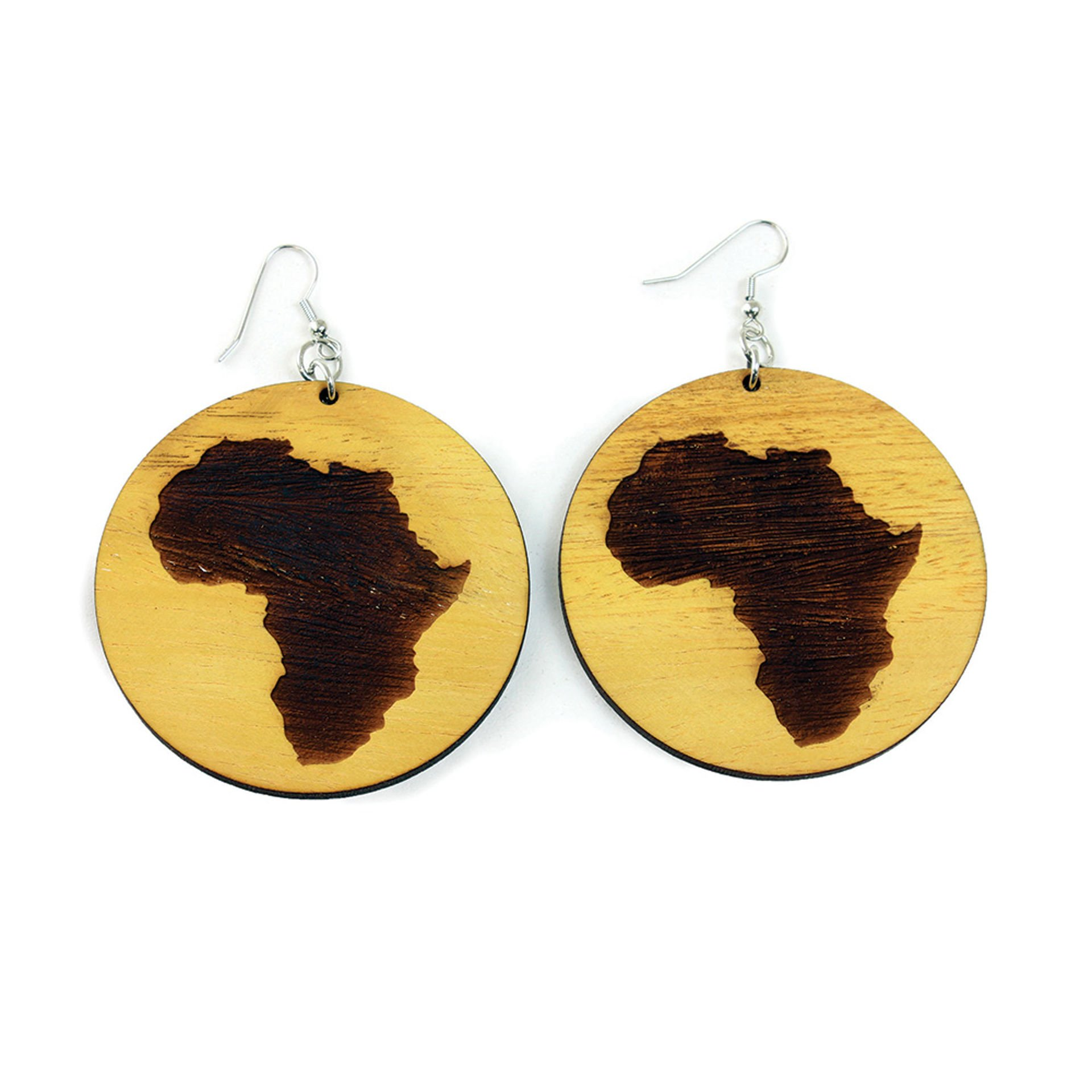 Picture of Wooden Africa Earrings