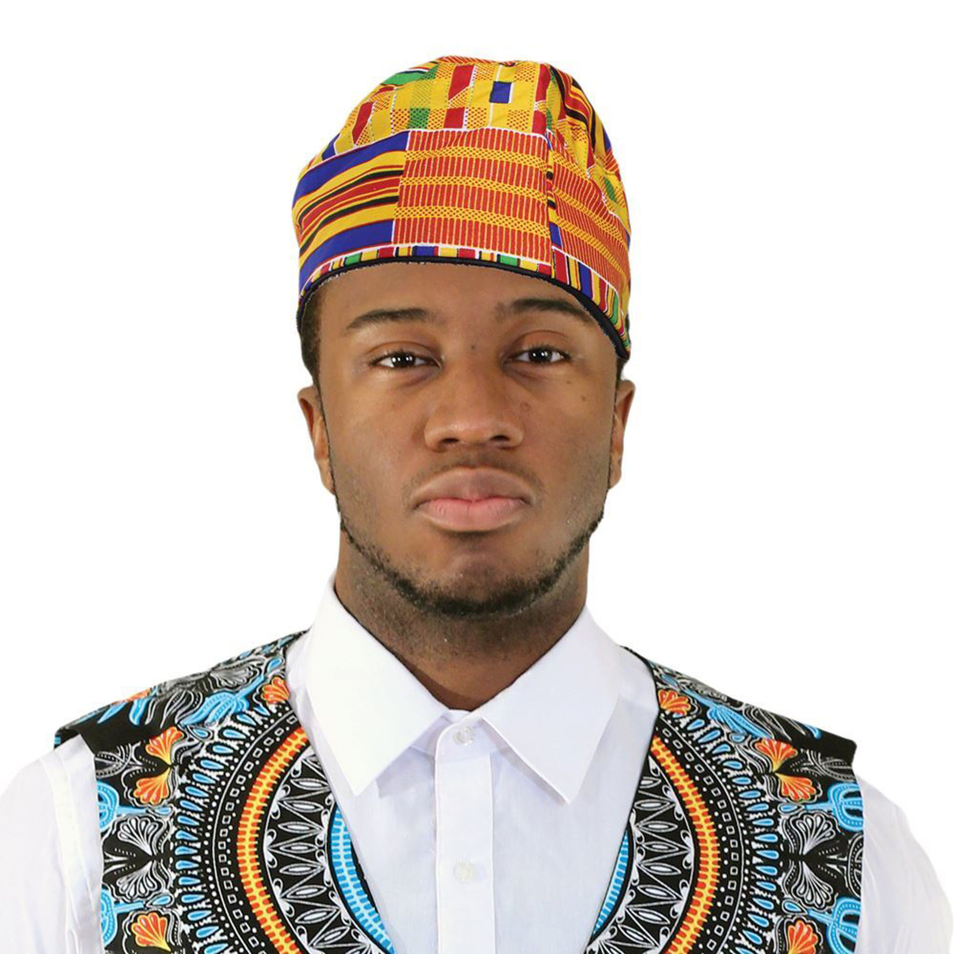 Picture of Kente Kufi Hat Style #1