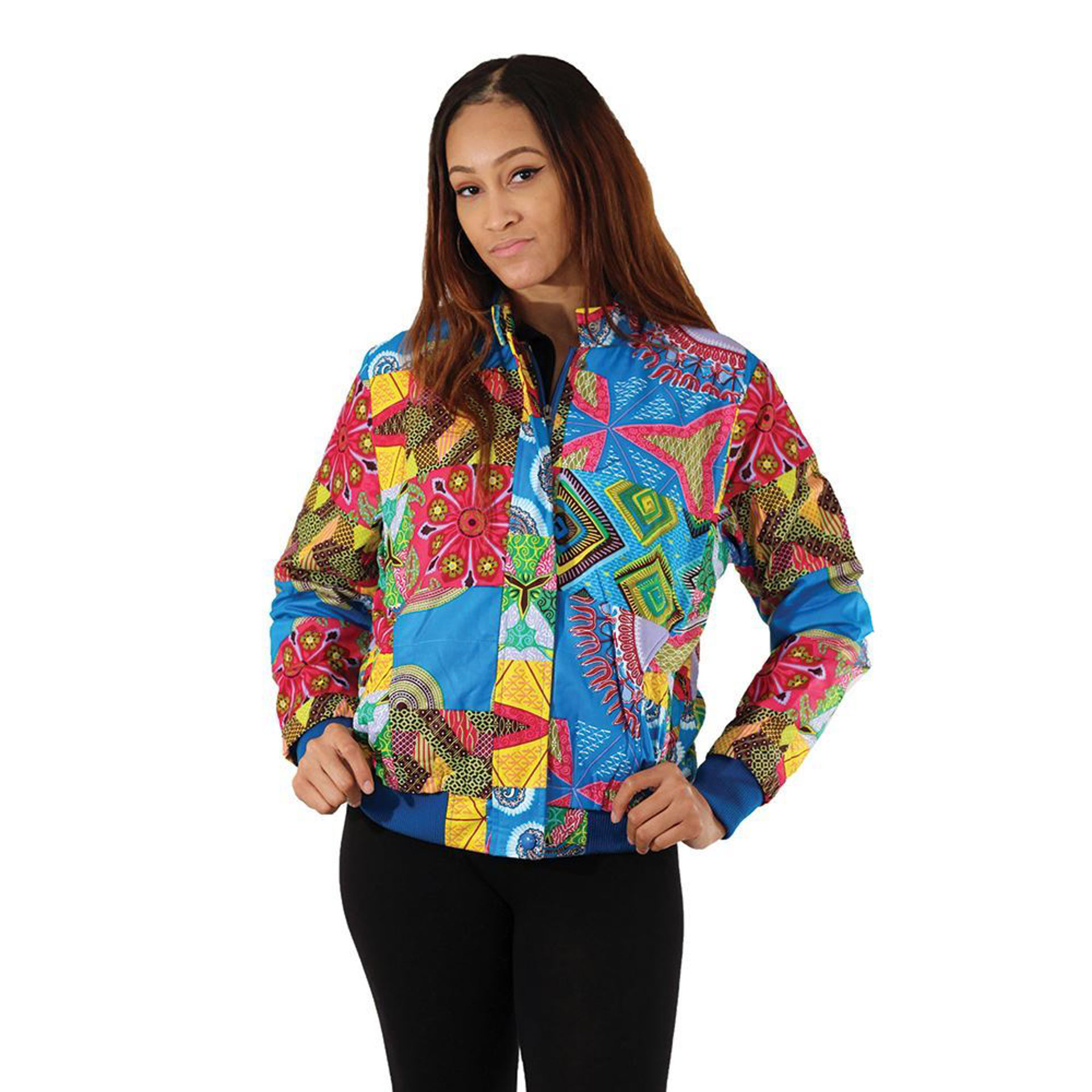 Picture of Blue Patchwork Jacket