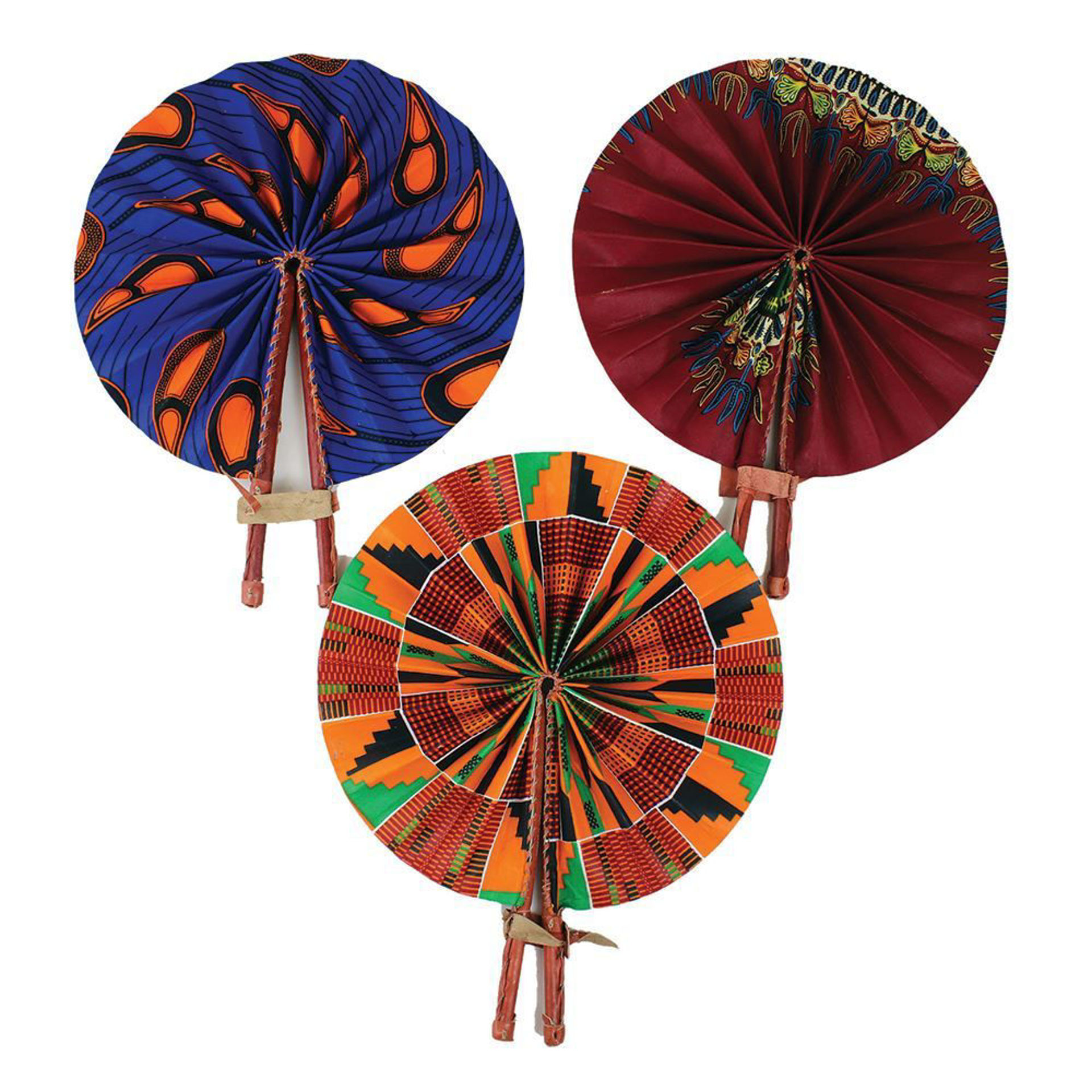 Picture of Set Of 3 DAMAGED Folding Fans - ASSORTED