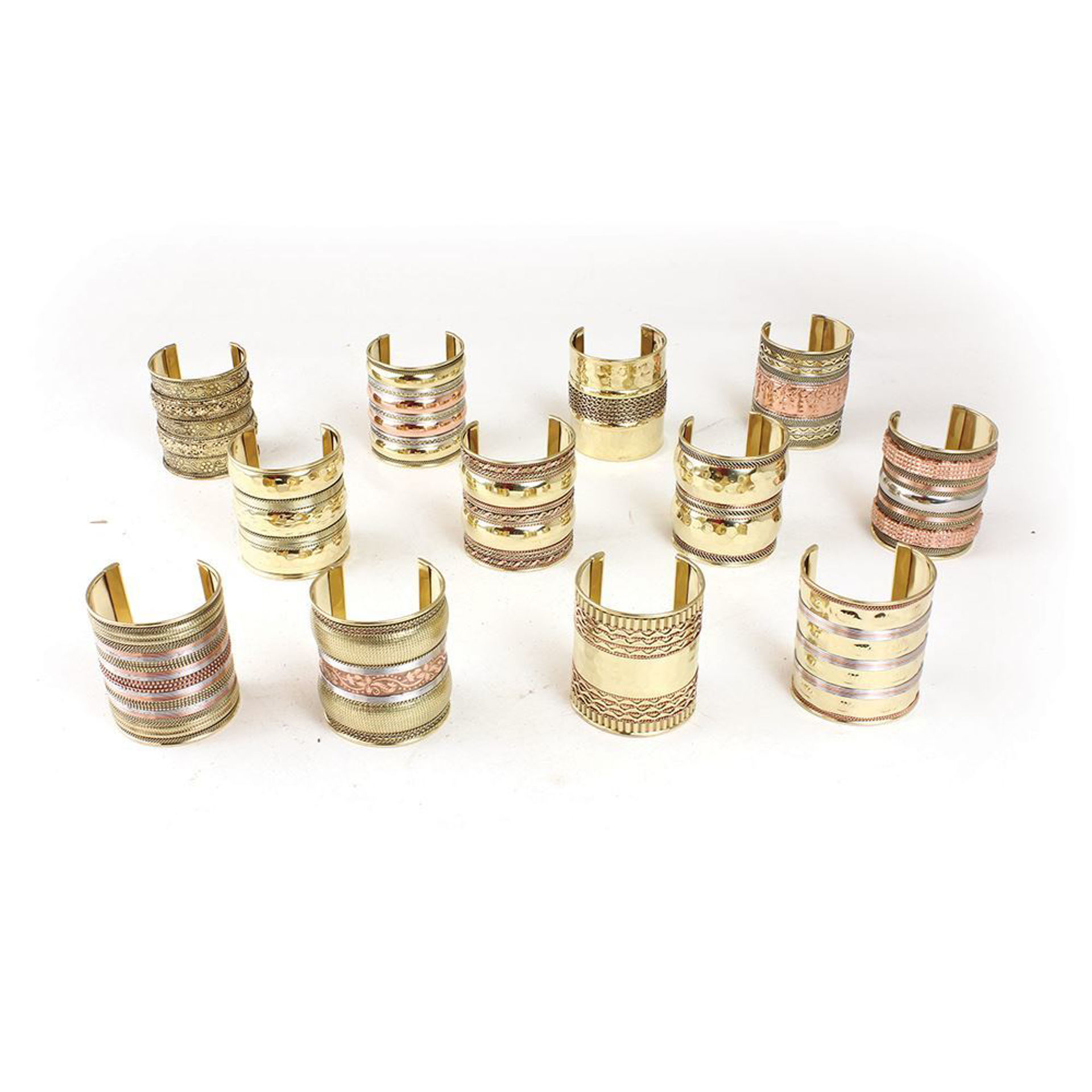 """Picture of Set Of 12 Gold Cuffs - 3"""""""