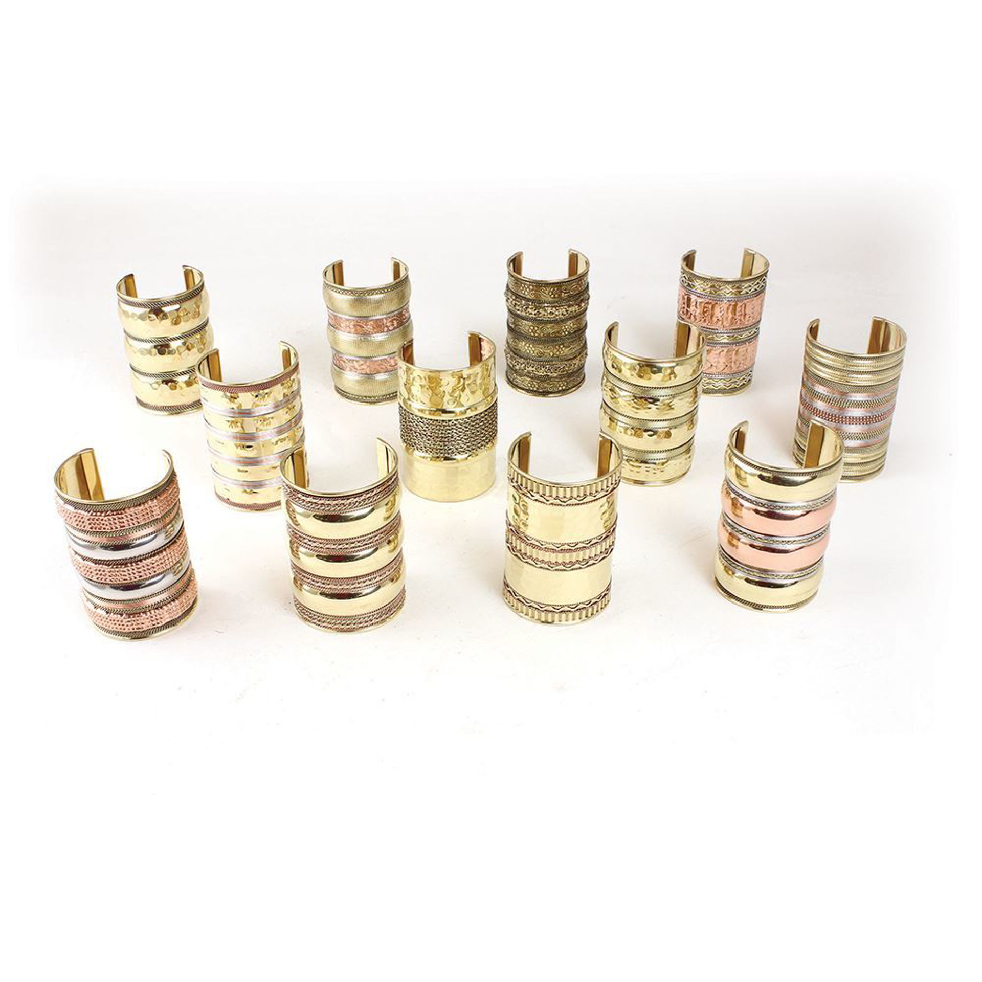 Picture of Set Of 12 Gold Cuffs - 4""