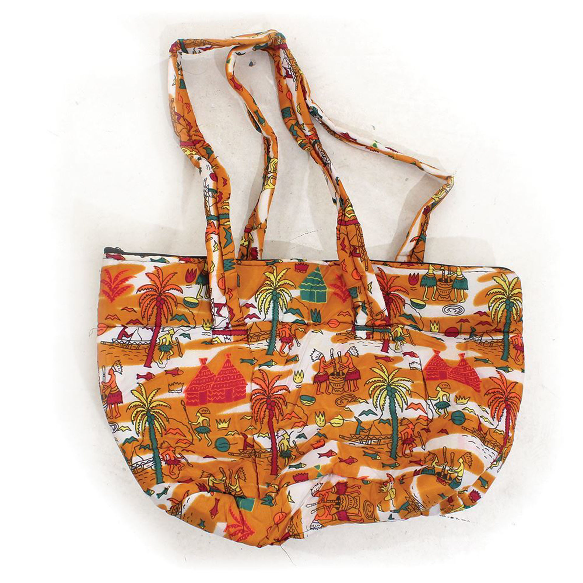 Picture of African Print Hand Bag - Africa Mustard
