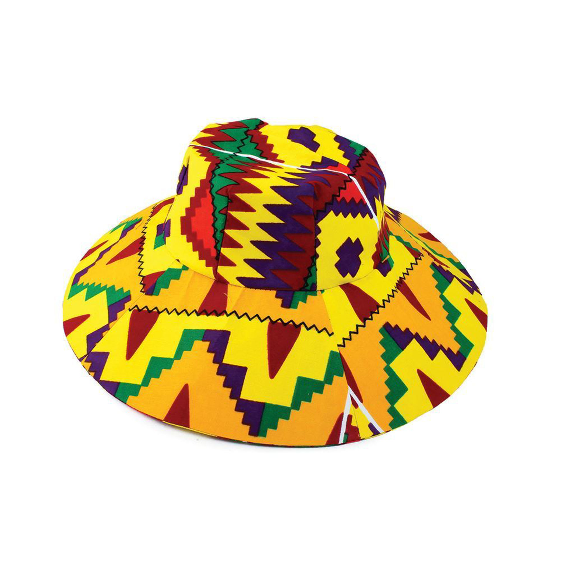 Picture of Yellow/Purple Kente Sun Hat